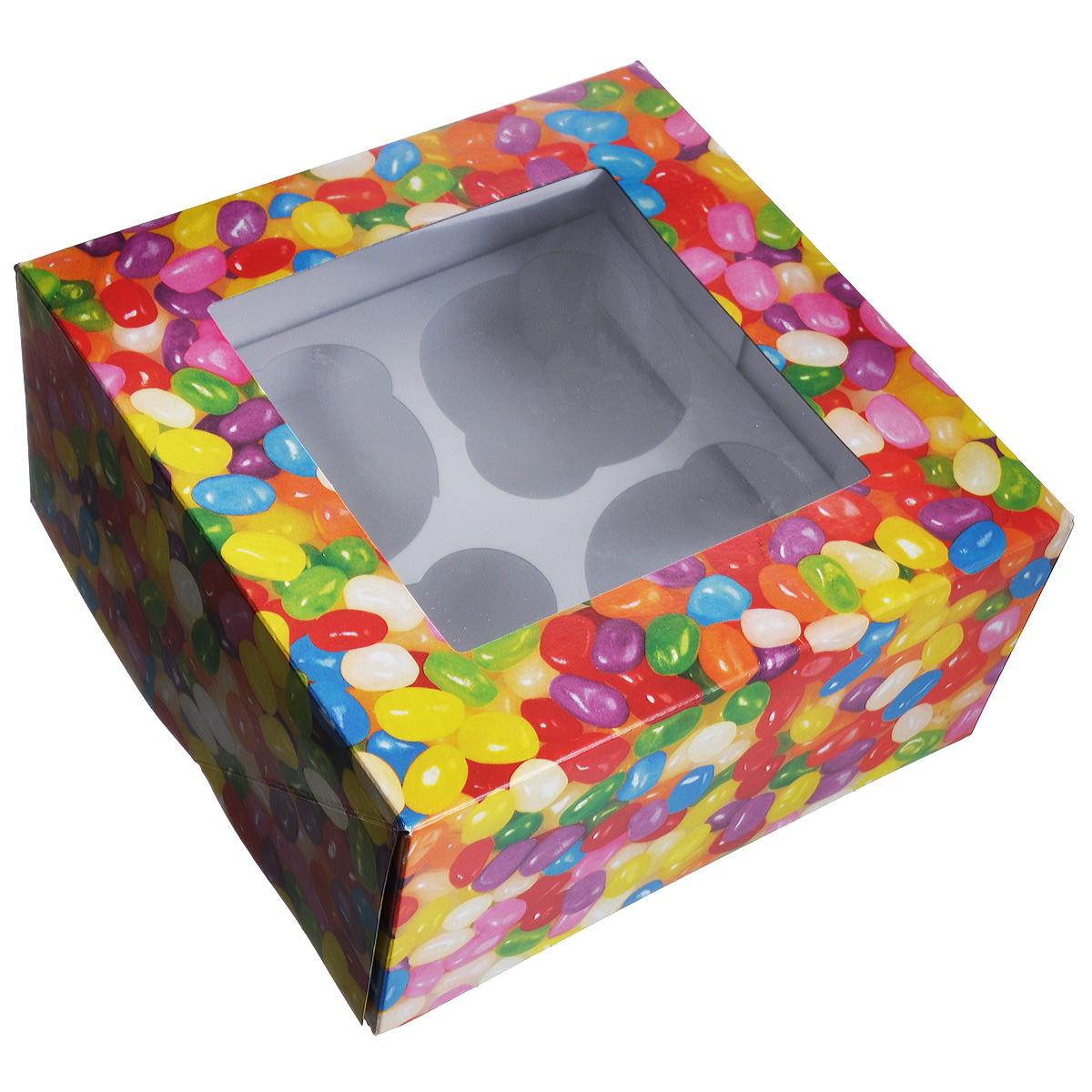 Набор коробок для сладостей Wilton Веселая фасоль, 15,8 см х 15,8 см х 7,6 см, 3 штWLT-415-2757Набор Wilton Веселая фасоль состоит из трех подарочных коробок, изготовленных из картона и предназначенных для упаковки кондитерских изделий. Каждая коробочка оснащена небольшим окошком, благодаря которому можно видеть содержимое. Коробка Wilton Веселая фасоль - идеальная подарочная упаковка для вашего сладкого подарка. Просто поместите внутрь пирожное, и удивительно красивый и вкусный подарок готов! Набор также подходит для транспортировки кондитерских изделий. Размер коробочки: 15,8 см х 15,8 см х 7,6 см.