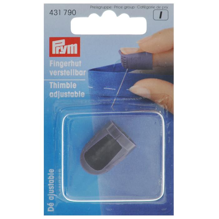 Наперсток Prym, регулируемый, цвет: синий431790_синийУниверсальный наперсток Prym, выполненный из пластика, оснащен кантом против скольжения иглы. Наперсток регулируется по размеру вашего пальца. Он защитит ваши пальцы от укола иголкой при шитье и поможет протолкнуть иглу сквозь толстый материал.