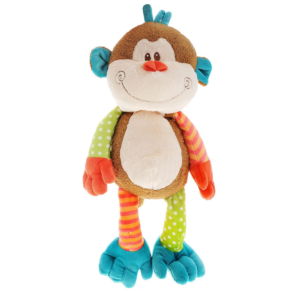 Мягкая игрушка Plush Apple Веселая мартышка, 40 смK34092AЯркая мягкая игрушка Plush Apple Веселая мартышка привлечет внимание любого ребенка. Игрушка изготовлена из безопасных, приятных на ощупь текстильных материалов в виде обезьянки с веселой улыбкой на мордочке. Пластиковые гранулы, используемые при набивке игрушки, способствуют развитию мелкой моторики рук ребенка. Удивительно мягкая игрушка принесет радость и подарит своему обладателю мгновения нежных объятий и приятных воспоминаний.