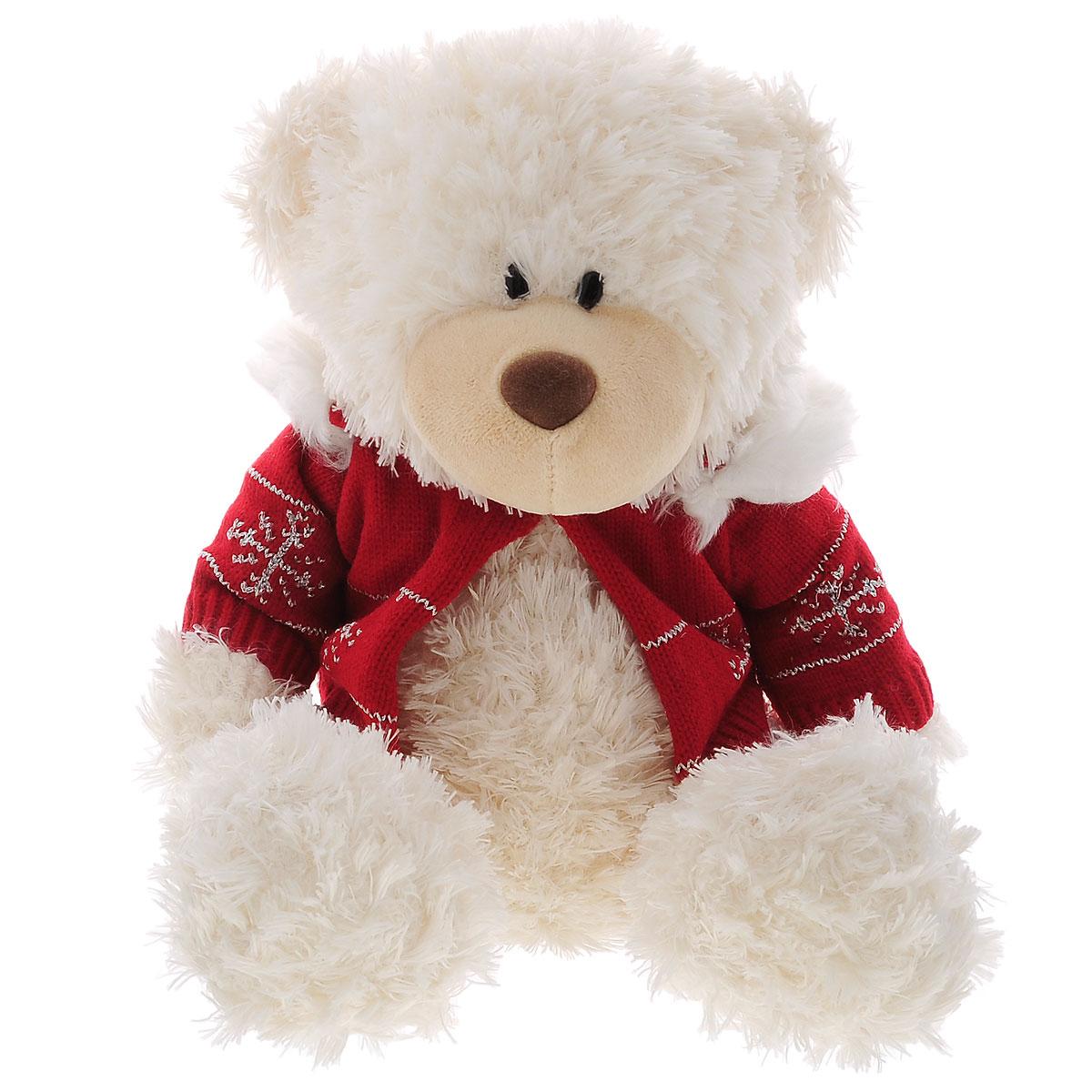 Мягкая игрушка Plush Apple Медведь в свитере, 30 смK76163FМягкая игрушка Plush Apple Медведь в свитере привлечет внимание любого ребенка. Игрушка изготовлена из высококачественных текстильных материалов. Специальные гранулы, используемые при ее набивке, способствуют развитию мелкой моторики рук малыша. Выполнена игрушка в виде милого медвежонка в свитере красного цвета. Небольшие размеры игрушки позволяют брать ее на прогулку и в гости, поэтому малышу больше не придется расставаться со своим новым другом.