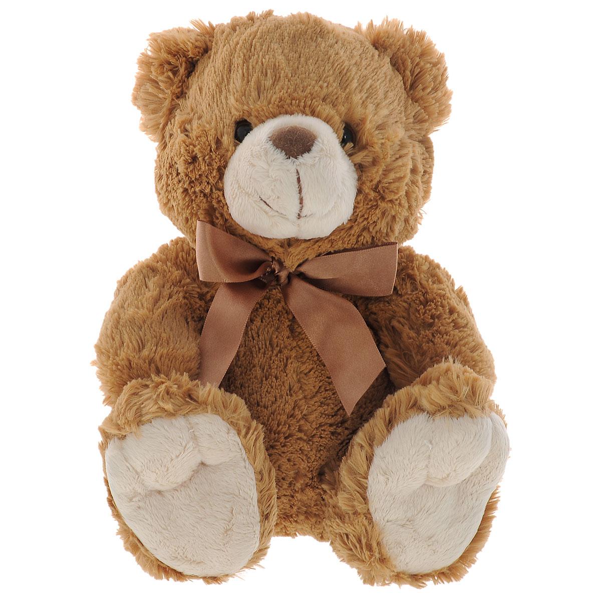 Мягкая игрушка Plush Apple Медведь, цвет: коричневый, молочный, 24 смK81002H,IМягкая игрушка Plush Apple Медведь станет лучшим другом для любого ребенка. Игрушка изготовлена из безопасных, приятных на ощупь текстильных материалов в виде медвежонка с бантиком на шее. Пластиковые гранулы, используемые при набивке игрушки, способствуют развитию мелкой моторики рук ребенка. Удивительно мягкая игрушка принесет радость и подарит своему обладателю мгновения нежных объятий и приятных воспоминаний. Порадуйте ребенка такой игрушкой.