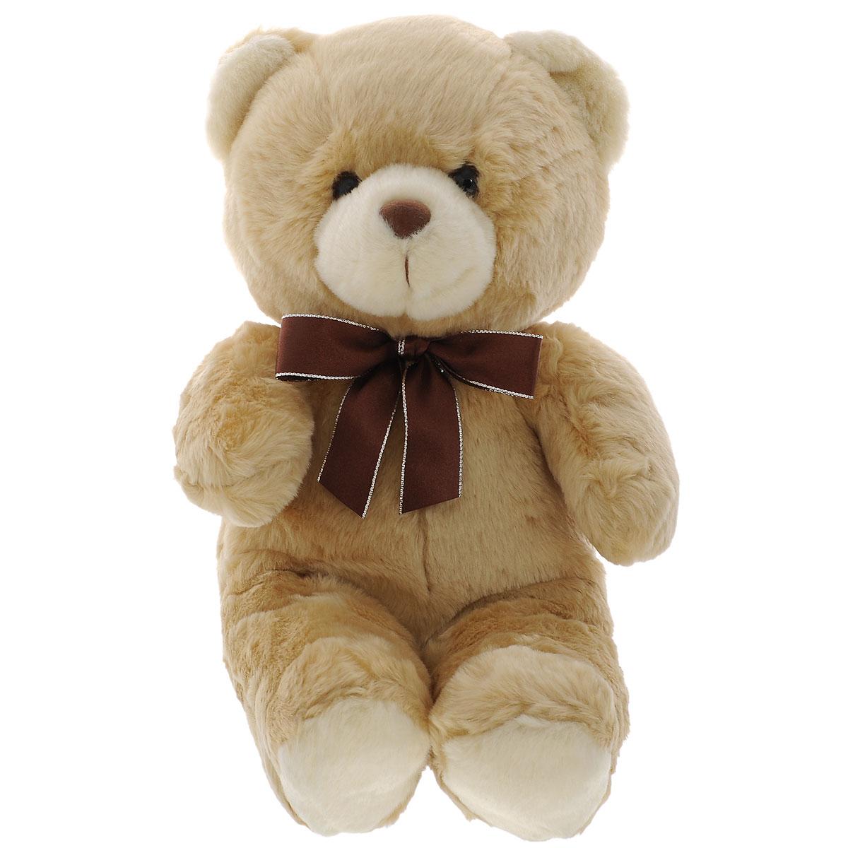 Мягкая игрушка Plush Apple Медведь с бантом, 38 смK13234A1Милая мягкая игрушка Plush Apple Медведь с бантом станет лучшим другом для любого ребенка. Игрушка изготовлена из высококачественных текстильных материалов. Выполнена игрушка в виде привлекательного медвежонка с коричневым бантиком на шее. Глазки и носик изготовлены из пластика. Игрушка невероятно мягкая и приятная на ощупь, вам не захочется выпускать ее из рук. Небольшие размеры позволят малышу всюду брать ее с собой - на прогулку, в детский сад или в поездку.