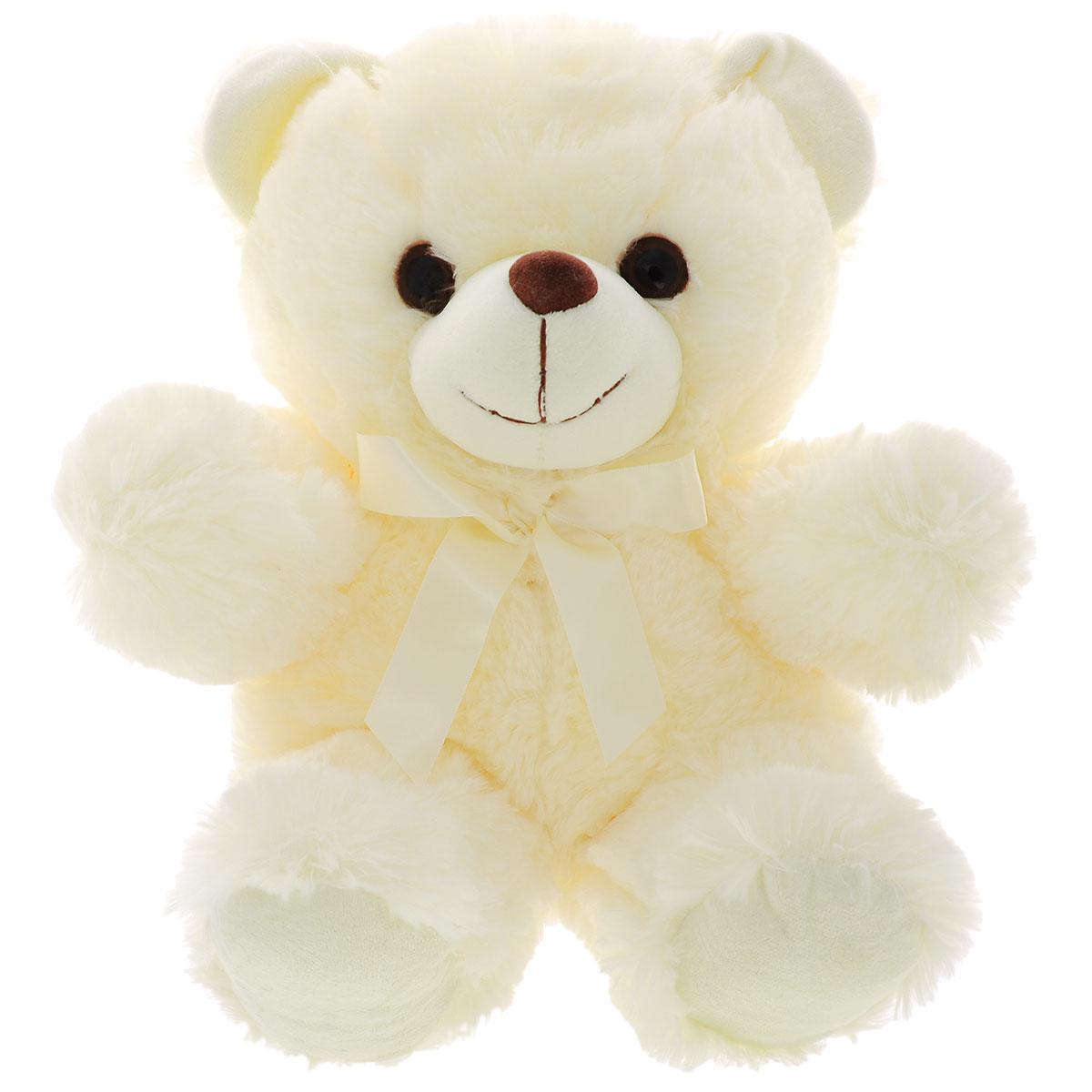 Мягкая игрушка Plush Apple Медведь, цвет: молочный, 41 смKF51683,L,N,K05113A,BМягкая игрушка Plush Apple Медведь не оставит вас равнодушным и вызовет улыбку у каждого, кто ее увидит. Игрушка изготовлена из высококачественных текстильных материалов. Глазки выполнены из пластика. Мишка с бантиком это не только очаровательная мордашка, но и забавный образ. Небольшие размеры игрушки позволяют брать ее на прогулку и в гости, поэтому малышу больше не придется расставаться со своим новым другом.
