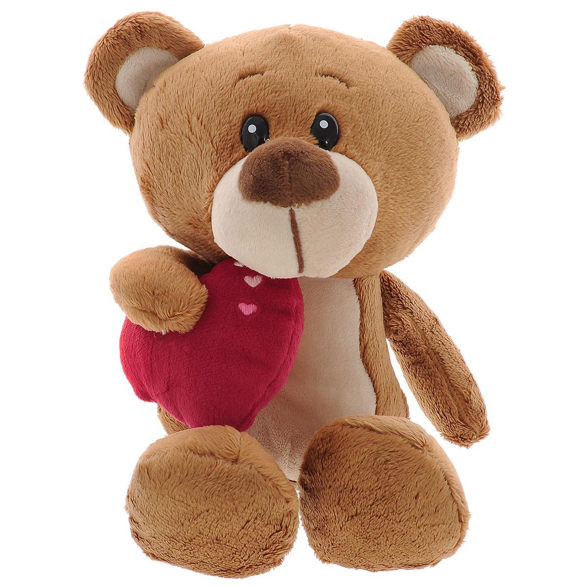 Мягкая игрушка Plush Apple Медведь Мишуткин с сердцем, 30 смK11166CМягкая игрушка Plush Apple Медведь Мишуткин с сердцем обязательно понравится любому ребенку. Изделие изготовлено из приятных на ощупь и очень мягких материалов. Выполнена игрушка в виде забавного медвежонка. Глазки изготовлены из пластика. В лапке у мишки красное сердечко. Небольшие размеры игрушки позволяют брать ее на прогулку и в гости, поэтому малышу больше не придется расставаться со своим новым другом.