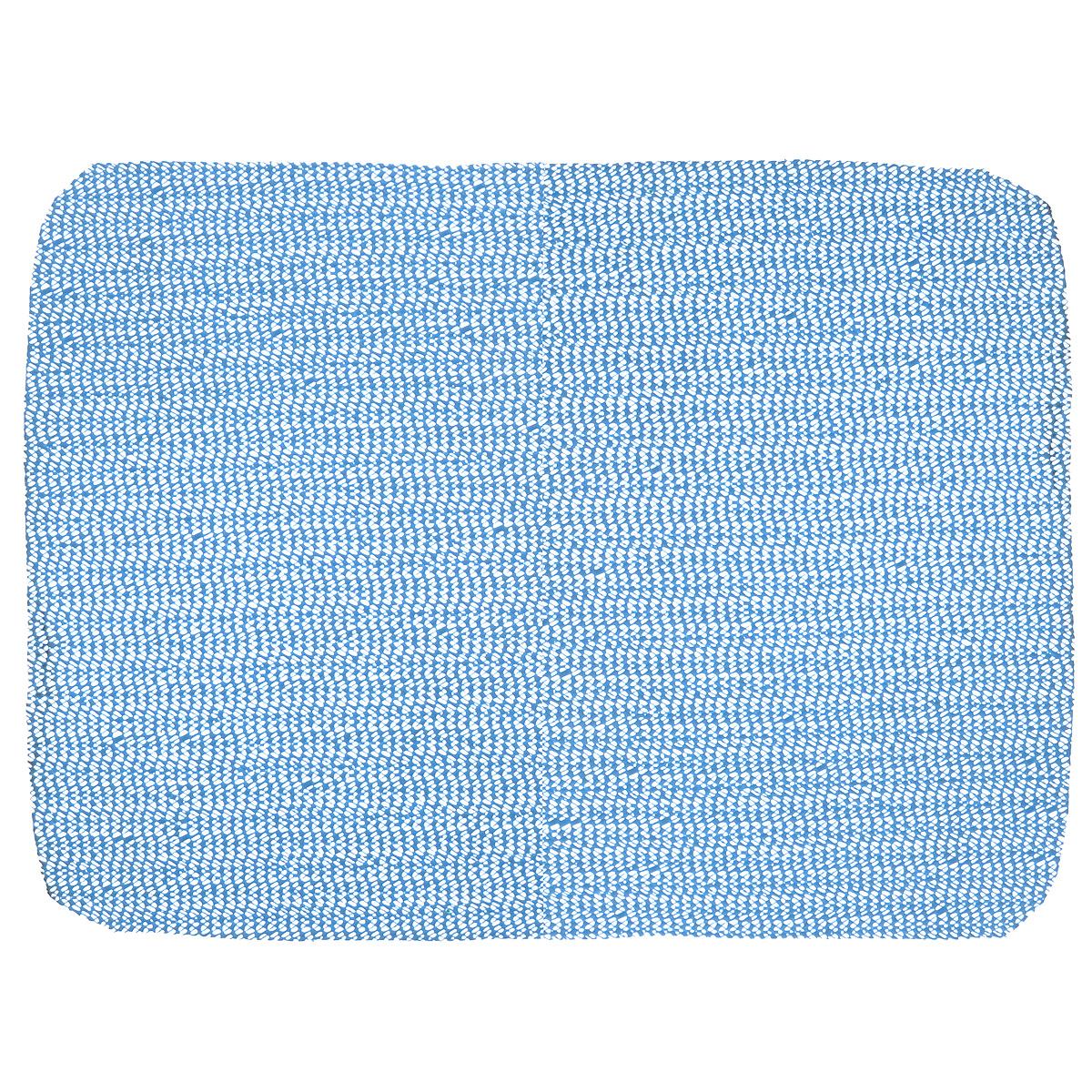 Салфетка противоскользящая Eva, цвет: синий, 40 х 30 смЕ793_синийСалфетка Eva, изготовленная из ПВХ, - замечательное приобретение для хозяек. С помощью данной салфетки предметы не скользят по стеклу, в ящиках, а кроме того, оставляют поверхность чистой.