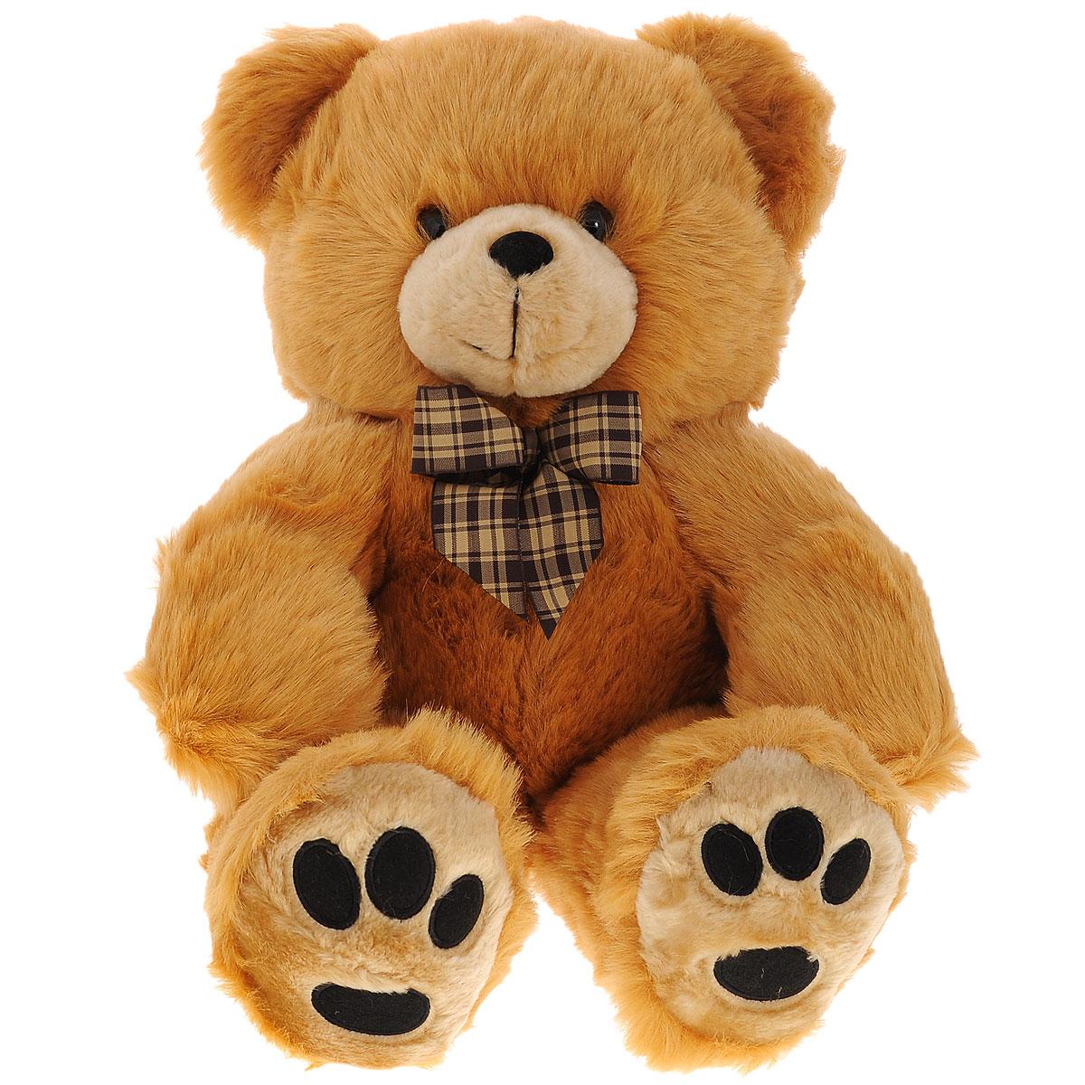 Мягкая игрушка Plush Apple Бурый медведь, 57 смK11392AМягкая игрушка Plush Apple Бурый медведь не оставит вас равнодушным и вызовет улыбку у каждого, кто ее увидит. Изделие изготовлено из приятных на ощупь и очень мягких материалов. Выполнена игрушка в виде симпатичного медведя с бантиком на шее. Глазки и носик выполнены из пластика. Такая игрушка будет радовать вашего ребенка, а также способствовать полноценному и гармоничному развитию его личности.