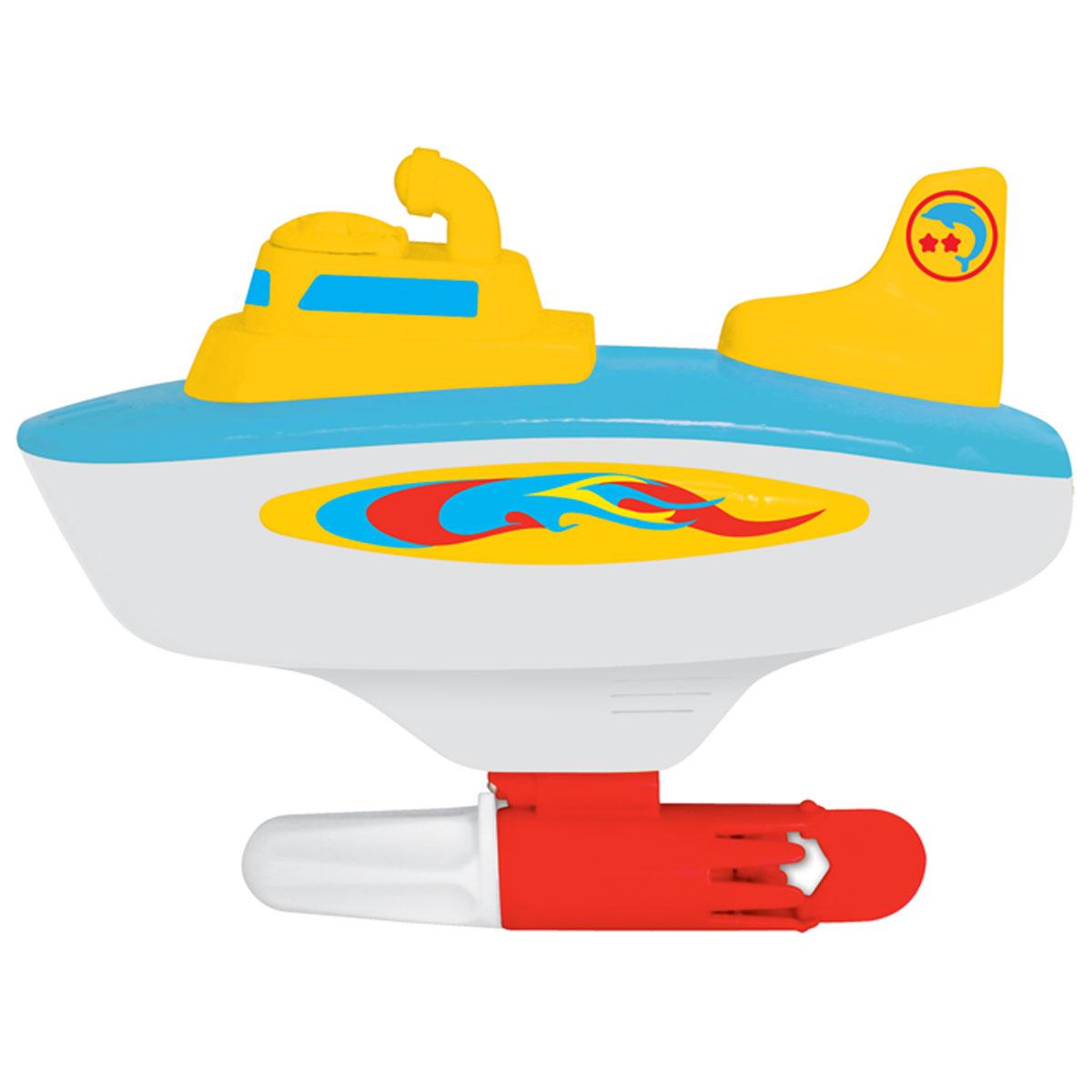 Kiddieland Игрушка Моя первая субмаринаKID 049908Яркая игрушка Kiddieland Моя первая субмарина со звуковыми эффектами обязательно понравится любому мальчишке. Игрушечная субмарина плавает с помощью гребного винтика. Чтобы запустить подводную лодку в просторы в ванной или водоема, необходимо повернуть рукоятку под килем. Используя рукоятку, можно менять направление движения. Субмарина способна поворачивать налево и направо. Во время игры раздается звук работающего мотора, прямо как у настоящей подводной лодки. Игрушка способствует развитию, мелкой моторики, цветовосприятия, воображения и творческого мышления. Рекомендуемый возраст: от 18 месяцев. Питание: 1 батарейка типа АА (входят в комплект).