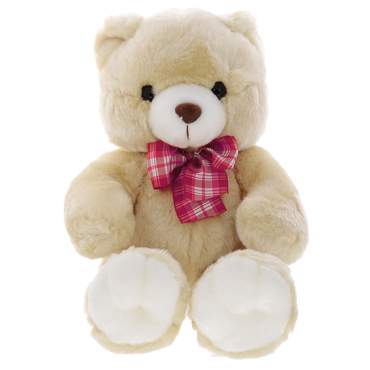 Мягкая игрушка Plush Apple Медведь с бантиком, 45 смAL00558B,AL00558СМягкая игрушка Plush Apple Медведь с бантиком не оставит вас равнодушным и вызовет улыбку у каждого, кто ее увидит. Игрушка изготовлена из высококачественных текстильных материалов. Игрушка выполнена в виде трогательного медведя с бантиком красного цвета на шее. Глазки и носик выполнены из пластика. Великолепное качество исполнения делают эту игрушку чудесным подарком к любому празднику.