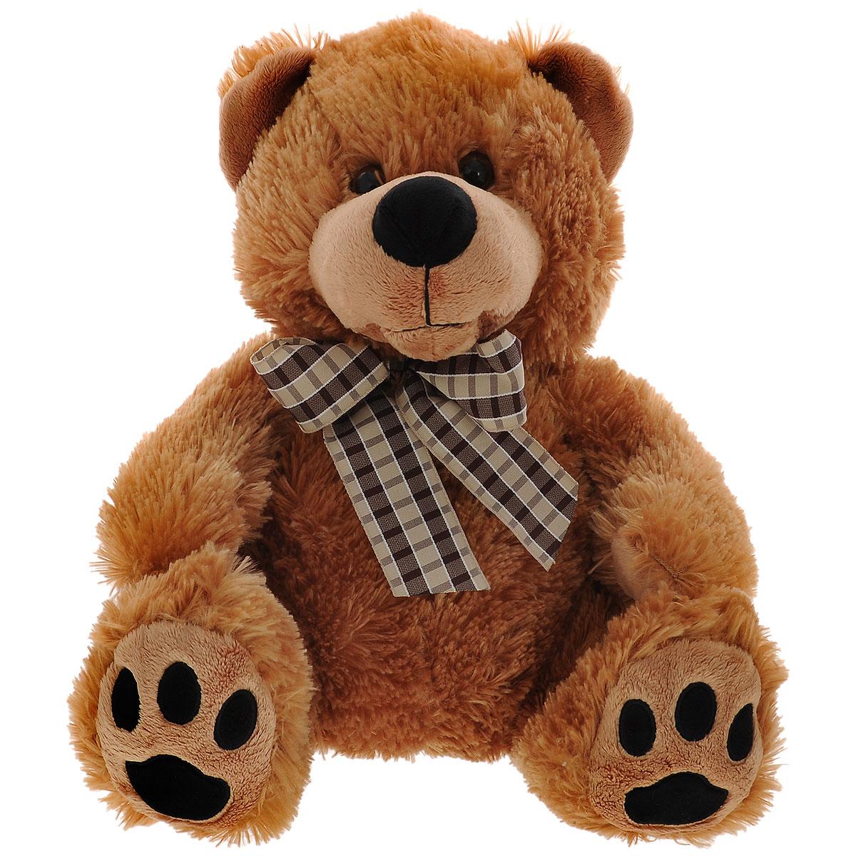 Мягкая игрушка Plush Apple Медведь с бантиком, 42 смK33180AМягкая игрушка Plush Apple Медведь с бантиком станет лучшим другом для любого ребенка. Изготовлена из высококачественных текстильных материалов. Игрушка выполнена в виде милого и очаровательного медвежонка с бантиком на шее. Глазки изготовлены из пластика. Игрушка невероятно мягкая и приятная на ощупь, вам не захочется выпускать ее из рук. Небольшие размеры позволят малышу всюду брать ее с собой - на прогулку, в детский сад или в поездку.