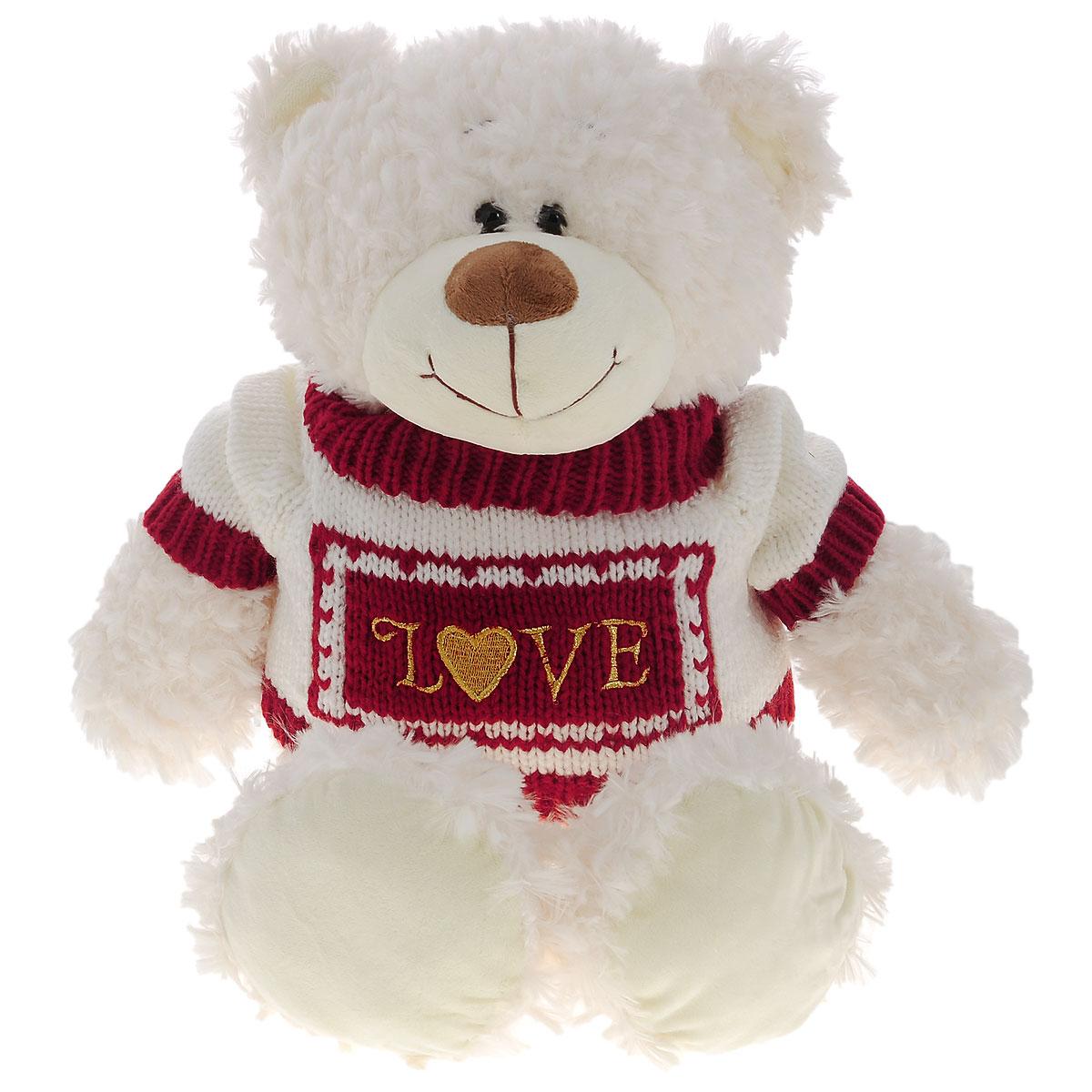 Мягкая игрушка Plush Apple Медведь северный, 50 смK71244FМягкая игрушка Plush Apple Медведь северный обязательно понравится любому ребенку. Изделие изготовлено из приятных на ощупь и очень мягких материалов. Выполнена игрушка в виде милого медведя, одетого в свитер с надписью Love. Специальные гранулы, используемые при ее набивке, способствуют развитию мелкой моторики рук малыша. Такая игрушка вызывает умиление не только у детей, но и у взрослых. Поэтому она станет отличным подарком не только ребенку, но и друзьям.