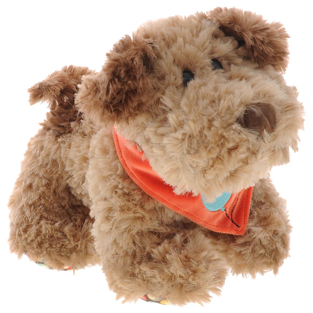 Plush Apple Мягкая игрушка Собака Кучеряшка, 24 смK31287IМягкая игрушка Plush Apple Собака Кучеряшка станет верным другом вашему ребенку. Игрушка произведена из безопасных и качественных материалов. Собачка по имени Кучеряшка украшена стильным платком, подвязанным на шее. У нее пушистая приятная шерстка, черные глаза-бусинки, а подушечки на лапках дополнены специальными вставками из яркого текстиля с рисунком. Озорная и забавная собачка Кучеряшка непременно понравится малышу и не позволит ему скучать.