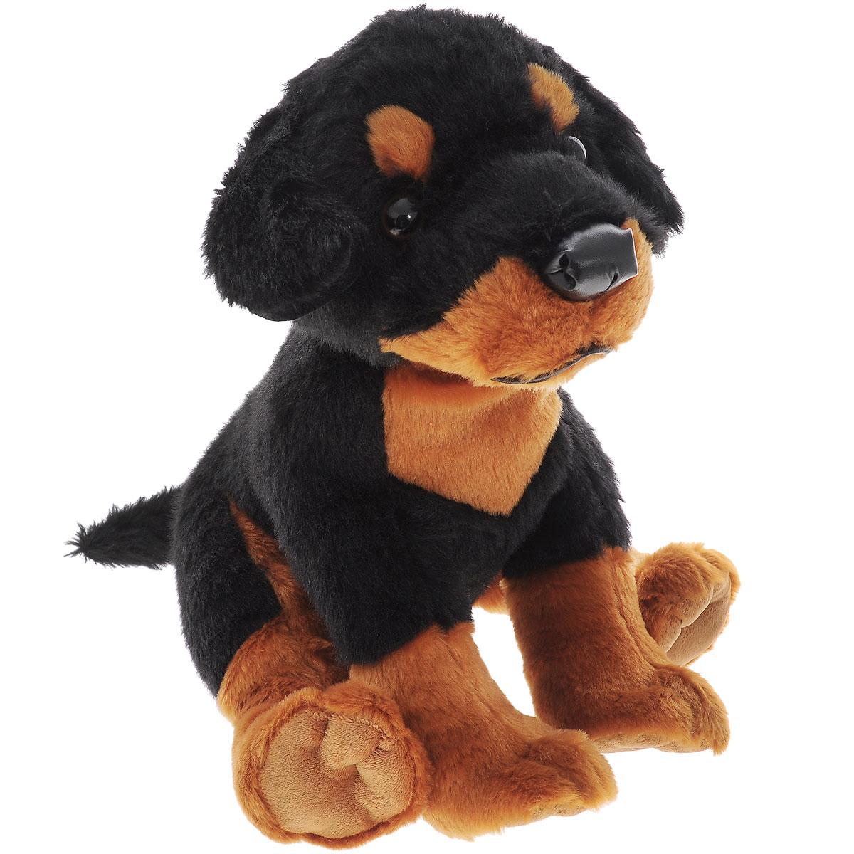 Plush Apple Мягкая игрушка Собака ротвейлер, 27 смK33210AМягкая игрушка Plush Apple Собака ротвейлер произведена из высококачественных материалов, безвредных для ребенка. Игрушка в виде собачки породы ротвейлер станет преданным и верным другом для малыша. С собачкой ребенку будет весело проводить время: играть и ходить на прогулку. Уникальная технология, авторский дизайн и ручная проработка деталей делают игрушку чудесным подарком к любому празднику. Мягкая игрушка способствует развитию воображения и тактильной чувствительности у детей.