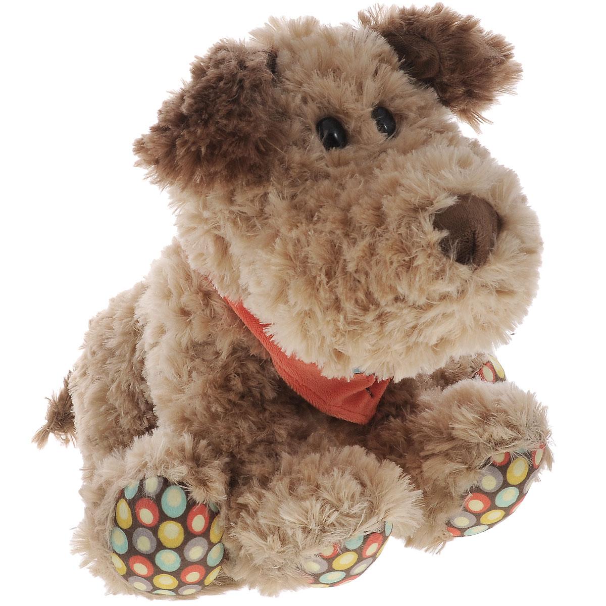 Plush Apple Мягкая игрушка Собака Кучеряшка, 27 смK31287ВМягкая игрушка Plush Apple Собака Кучеряшка станет верным другом вашему ребенку. Игрушка произведена из безопасных и качественных материалов. Собачка по имени Кучеряшка украшена стильным платком, подвязанным на шее. У нее пушистая приятная шерстка, черные глаза-бусинки, а подушечки на лапках дополнены специальными вставками из яркого текстиля с рисунком. Озорная и забавная собачка Кучеряшка непременно понравится малышу и не позволит ему скучать.