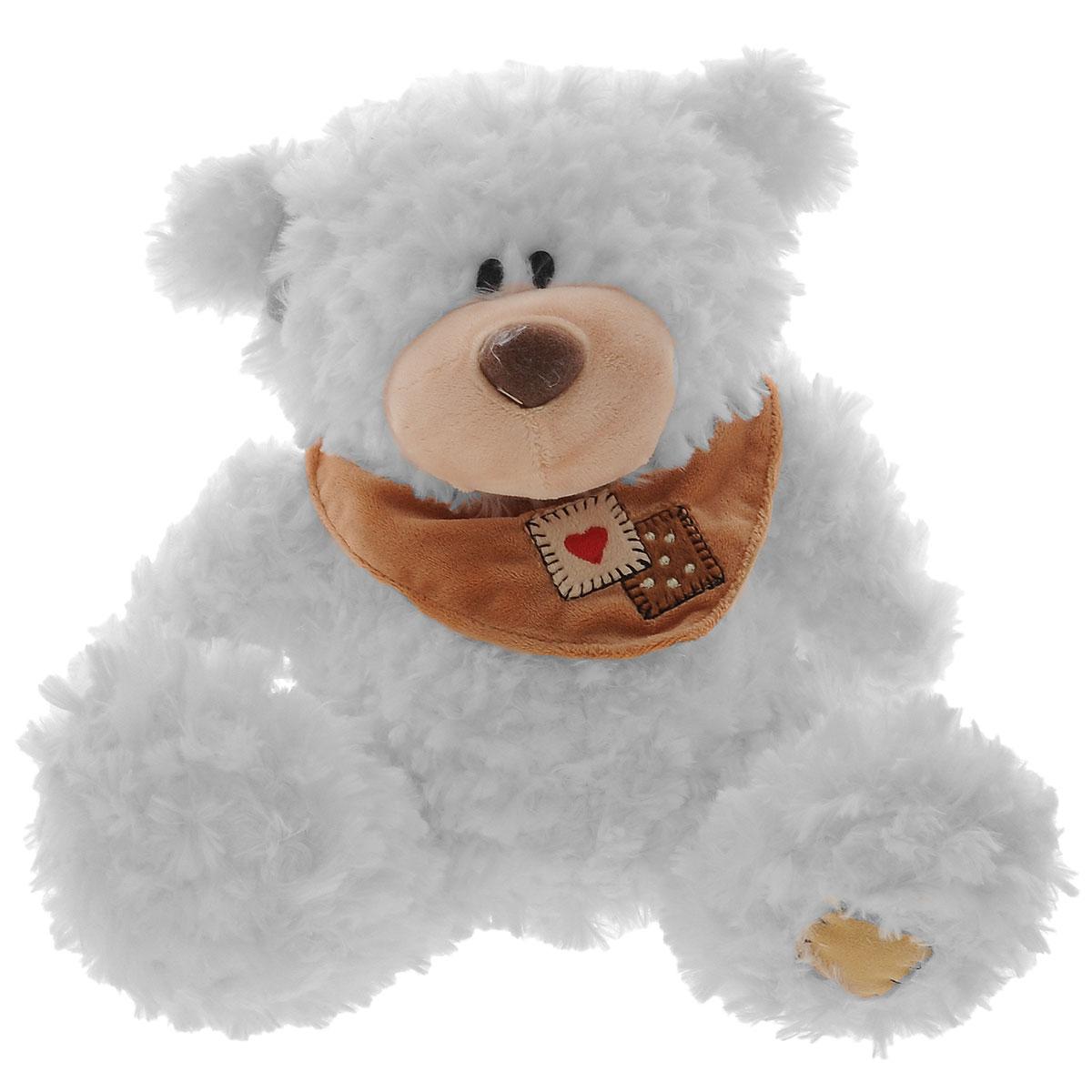 Plush Apple Мягкая музыкальная игрушка Медведь с шарфом, 25 смK76163A3,A4Мягкая музыкальная игрушка Plush Apple Медведь с шарфом, произведенная из текстиля с элементами пластика, станет замечательным подарком для каждого ребенка. Очаровательный Мишка с пушистой приятной шерсткой и черными глазами-бусинками понравится вашему малышу. Если нажать игрушке на грудку, то Мишка споет колыбельную. Удивительно мягкая игрушка принесет радость и подарит своему обладателю мгновения нежных объятий и приятных воспоминаний. Игрушка работает от незаменяемых батареек.