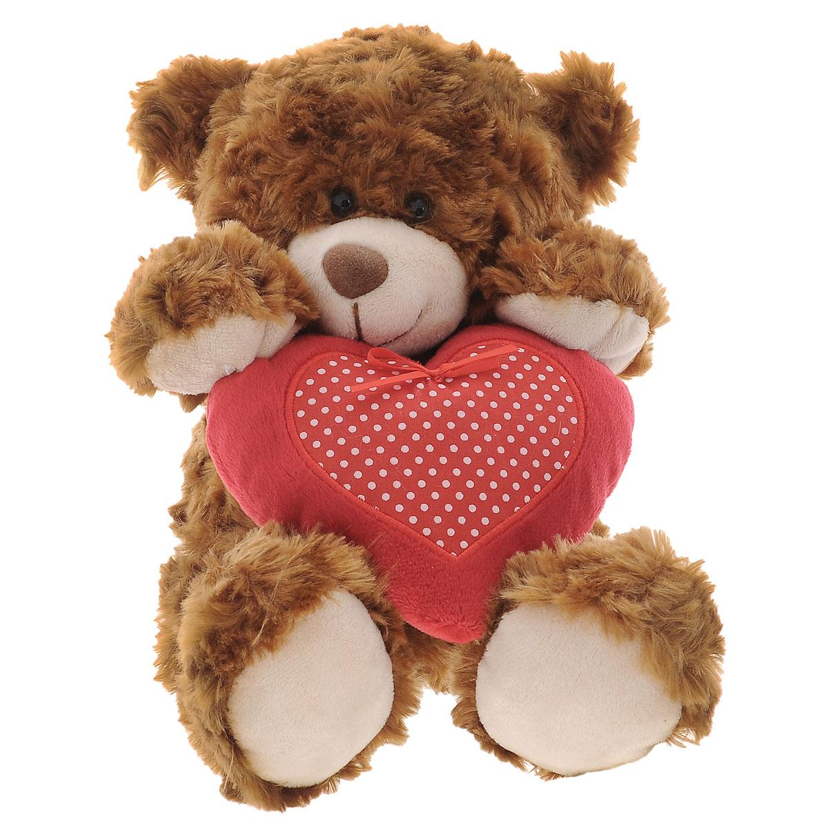 Plush Apple Мягкая игрушка Медведь с сердцем, 30 смK11183AМягкая игрушка Plush Apple Медведь с сердцем, изготовленная из текстиля с элементами пластика, станет замечательным подарком для ребенка или взрослого. Очаровательный Мишка с пушистой приятной шерсткой коричневого цвета и черными глазами-бусинками понравится своему обладателю. В лапках медвежонок держит большое сердечко красного цвета. Плюшевая игрушка Медведь с сердцем поможет любому человеку выразить свои чувства и преподнести незабываемый, оригинальный подарок своим близким и любимым.