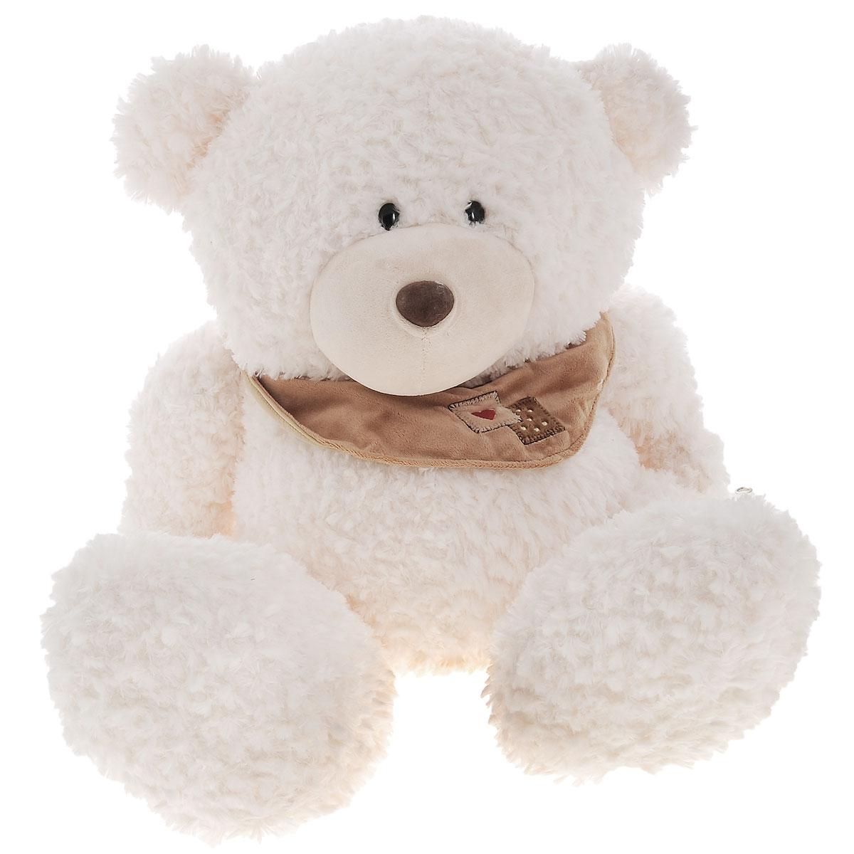Plush Apple Мягкая игрушка Медведь с шарфом, 50 смK76163DМягкая игрушка Plush Apple Медведь с шарфом отлично подойдет в качестве подарка для ребенка или взрослого. Большой плюшевый Мишка произведен из безопасных и высококачественных материалов. Мишка украшен стильным шарфом. У него пушистая приятная шерстка, черные глаза-бусинки и большие лапки. С ним можно спать или играть в сюжетно-ролевые игры. Удивительно мягкая игрушка принесет радость и подарит своему обладателю мгновения нежных объятий и приятных воспоминаний.