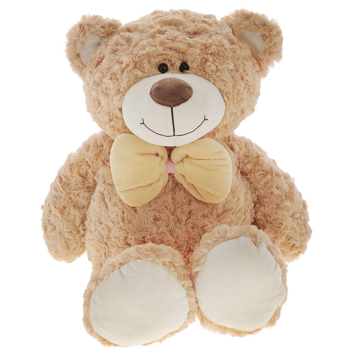 Plush Apple Мягкая игрушка Медведь, 50 смK71244ММягкая игрушка Plush Apple Медведь, выполненная в виде медвежонка с бантиком желтого цвета на шее, очарует не только ребенка, но и взрослого. Игрушка изготовлена из искусственного меха и текстильных материалов, с элементами из пластика. В качестве набивки используются синтетические волокна и пластмассовые гранулы. Плюшевая игрушка Plush Apple Медведь поможет любому человеку выразить свои чувства и преподнести оригинальный подарок своим близким и любимым.