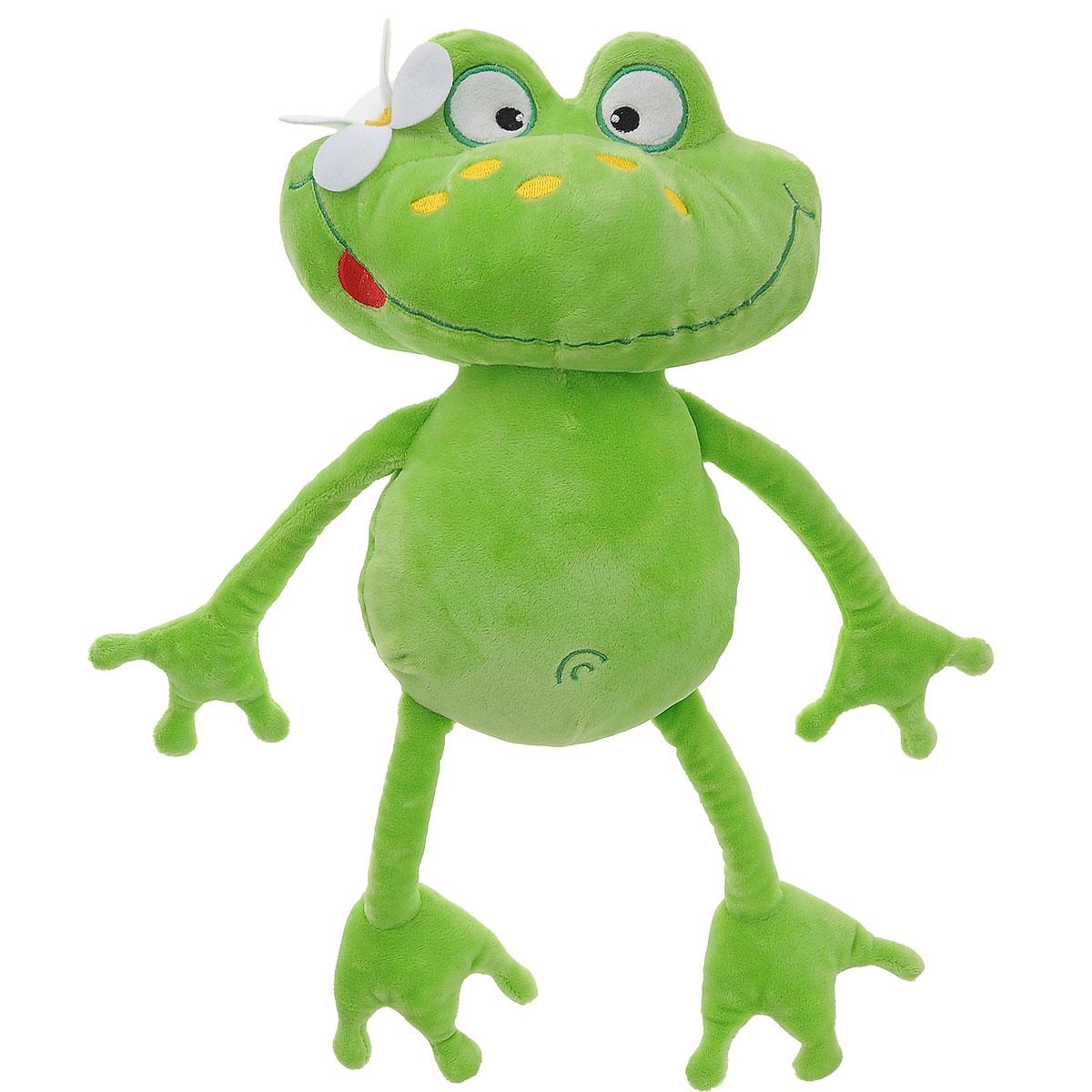 Мягкая игрушка Plush Apple Лягушка Сусанна, 40 смK08151AОчаровательна мягкая игрушка Plush Apple Лягушка Сусанна порадует и развеселит вас и вашего малыша. Выполнена в виде забавной лягушки с цветочком на голове. Изделие изготовлено из высококачественного и безопасного материала. Игрушка невероятно мягкая и приятная на ощупь, вам не захочется выпускать ее из рук. Небольшие размеры позволят малышу всюду брать ее с собой - на прогулку, в детский сад или в поездку. Мягкая игрушка Plush Apple Лягушка Сусанна принесет радость и подарит своему обладателю мгновения нежных объятий и приятных воспоминаний.