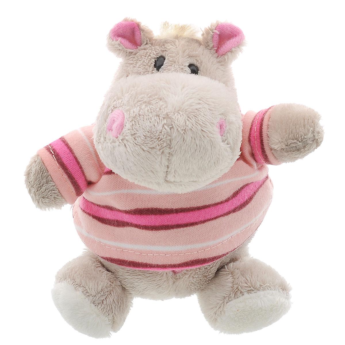 Orange Exclusive Мягкая игрушка Бегемот Жорик цвет серый розовый 10 см