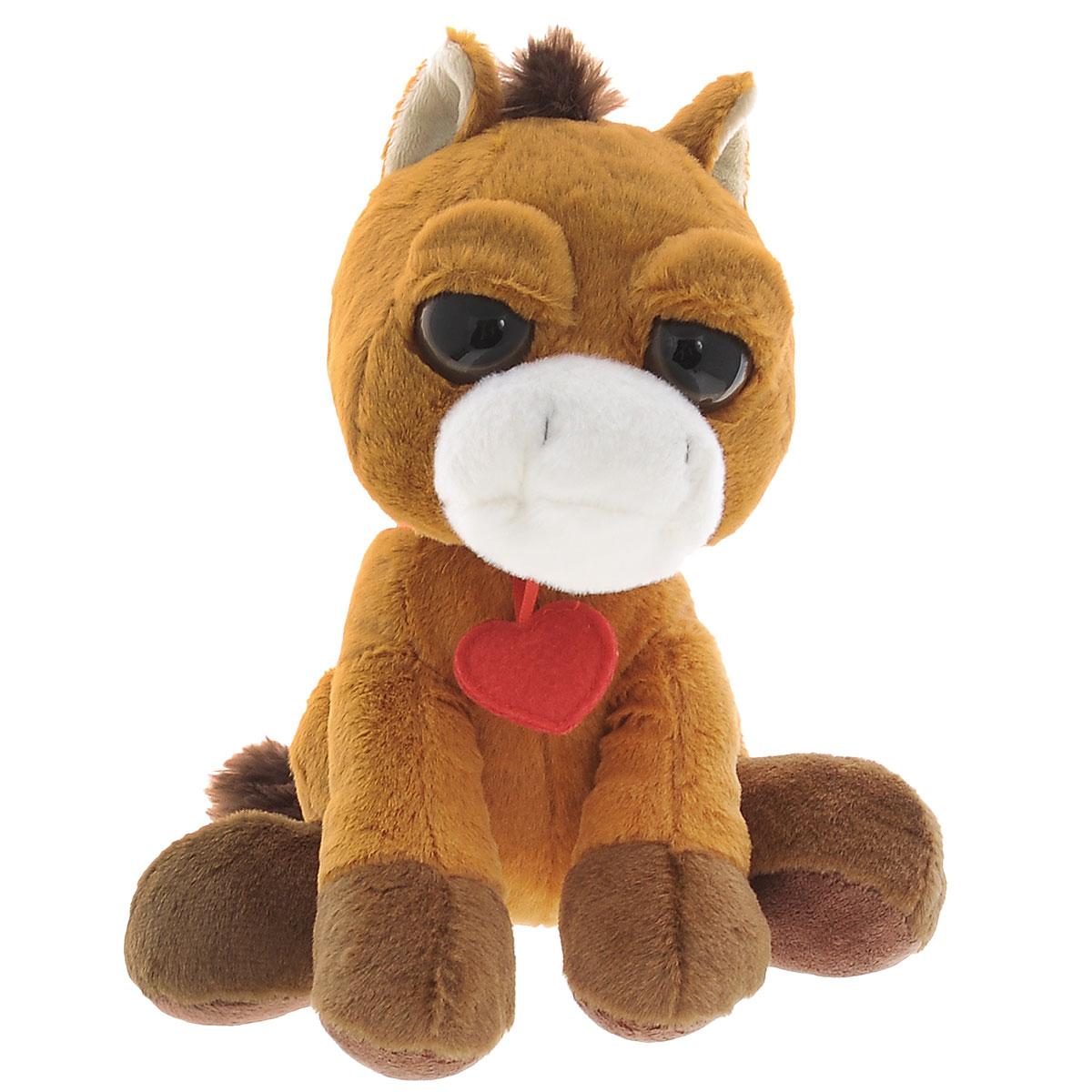 Мягкая игрушка Plush Apple Лошадка с сердечком, 23 смK85232S4Мягкая игрушка Plush Apple Лошадка с сердечком обязательно понравится вашему малышу. Изделие изготовлено из приятных на ощупь и очень мягких материалов, безвредных для ребенка. Игрушка выполнена в виде милой лошадки с пластиковыми глазками и сердечком на шее. Лошадка может составить компанию и дома, и на прогулке, и даже в постели, когда ребенок ложится спать. Удивительно мягкая игрушка принесет радость и подарит своему обладателю мгновения нежных объятий и приятных воспоминаний. Специальные гранулы, используемые при ее набивке, способствуют развитию мелкой моторики рук малыша. Великолепное качество исполнения делают эту игрушку чудесным подарком к любому празднику.