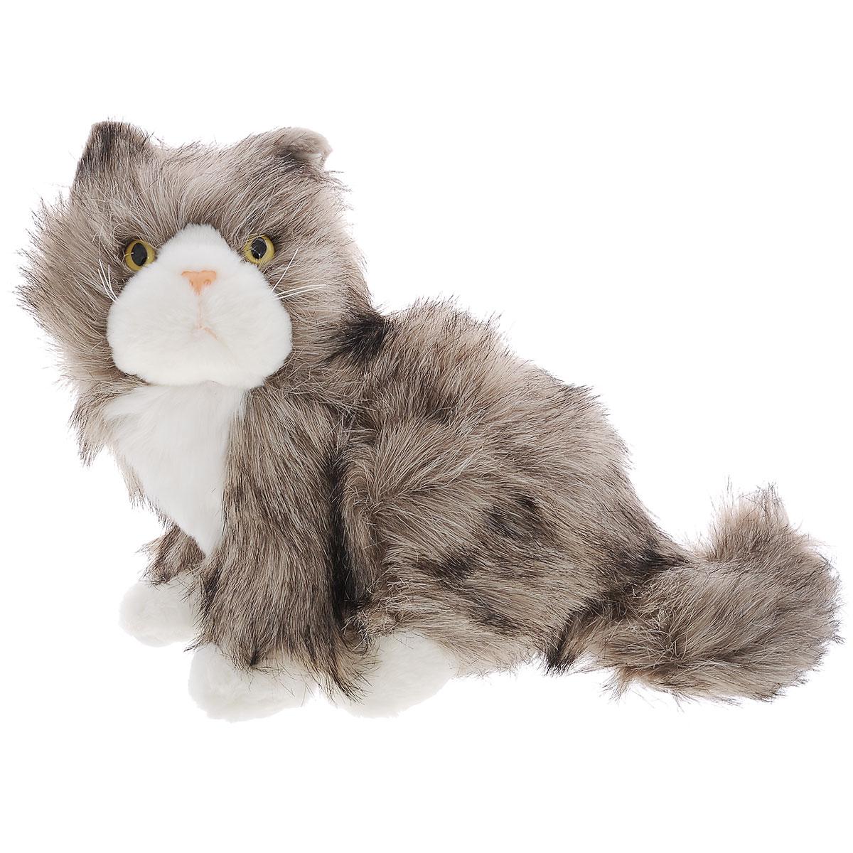 Мягкая игрушка Plush Apple Кот, цвет: серый, белый, 26 смK09542A,BМилая мягкая игрушка Plush Apple Кот привлечет внимание любого ребенка. Изготовлена из приятных на ощупь и очень мягких материалов, безвредных для малыша. Выполнена игрушка в виде милой кошки с пластиковыми глазками. Небольшие размеры игрушки позволяют брать ее на прогулку и в гости, поэтому малышу больше не придется расставаться со своим новым другом.
