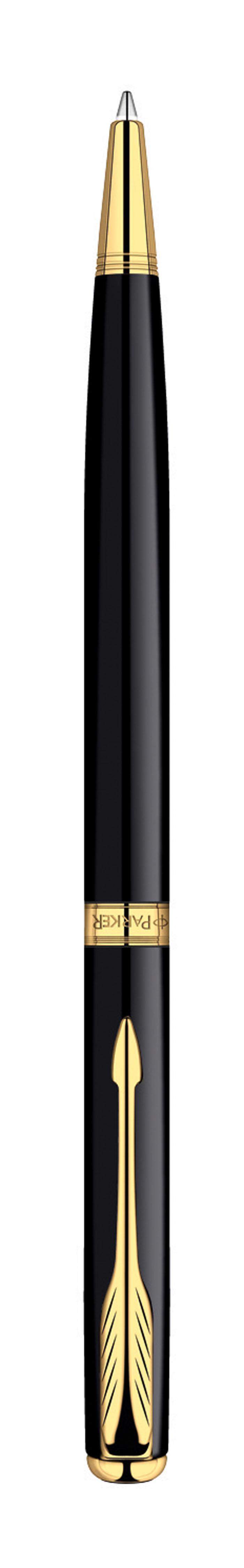 Шариковая ручка Parker Sonnet Slim Black GT с поворотным механизмом - это гарант вашего неповторимого стиля и элегантности. Ручка заправлена стержнем с черными чернилами. Корпус ручки выполнен из ювелирной латуни с многослойным лаковым покрытием и позолотой. Оригинальная гравировка Parker. Толщина линии - средняя. Шариковая ручка упакована в фирменную коробку с логотипом компании Parker. В коробке предусмотрено дополнительное отделение, в котором расположен международный гарантийный талон.Эксклюзивная ручка Parker Sonnet Slim Black GT подчеркнет стиль и элегантность ее владельца и станет превосходным подарком ценителю изящества и роскоши.Ручка - это не просто пишущий инструмент, это - часть имиджа, наглядно демонстрирующая статус, характер и образ жизни ее владельца.
