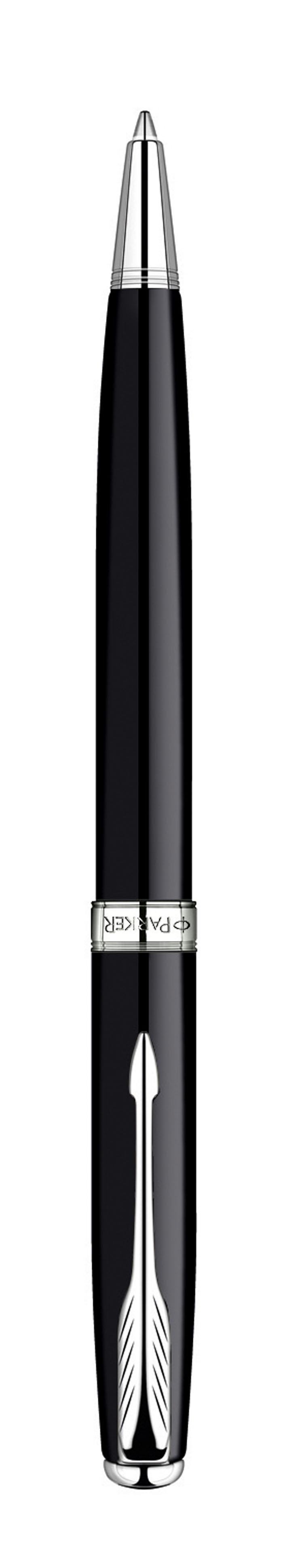 Ручка шариковая Sonnet Black Laque CT. PARKER-S0808830PARKER-S0808830Шариковая ручка Паркер Соннет Блэк Лак Си Ти. Инструмент для письма, линия письма - средняя, цвет чернил черный, в подарочной упаковке. Произведено во Франции.