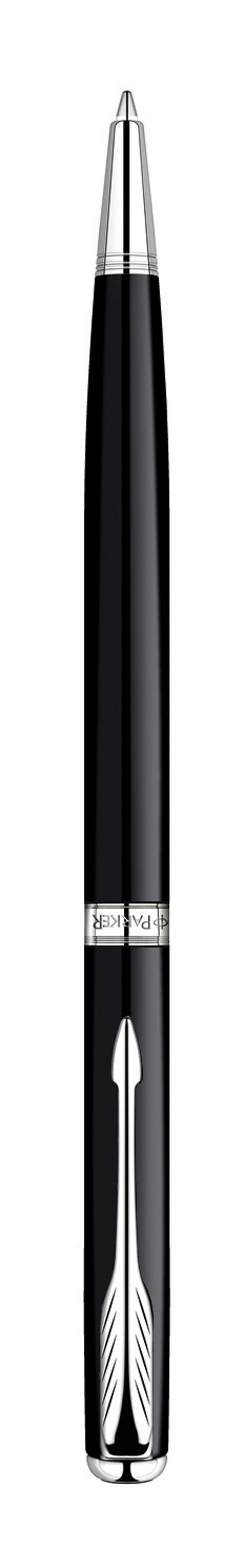 Ручка шариковая Sonnet SLIM Black Laque CT. PARKER-S0808840PARKER-S0808840Шариковая ручка Паркер Сонет Слим Блэк Си Ти . Инструмент для письма, линия письма - средняя, цвет чернил черный, в подарочной упаковке. Произведено во Франции.