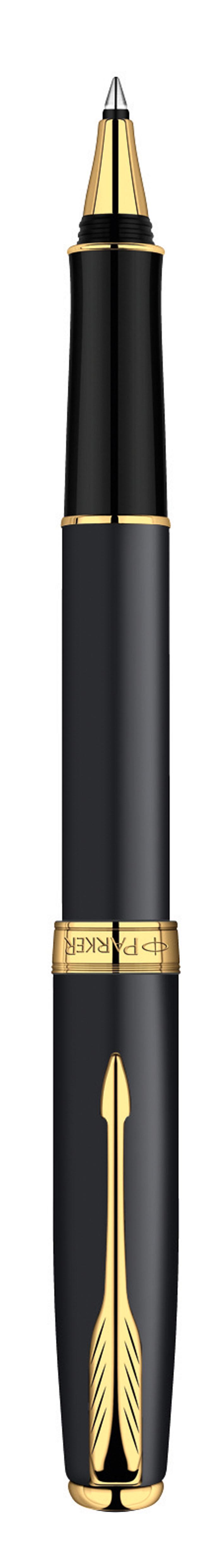 Ручка-роллер Parker Sonnet Matte Black GT - идеальный инструмент для письма. Материал ручки - ювелирная латунь с покрытием матовым лаком черного цвета, в отделке применяется позолота 23К. В ручке используются стандартные стержни-роллеры Parker, в комплект поставки входит один стержень черного цвета. Данный пишущий инструмент поставляется в фирменной подарочной коробке премиум-класса, что делает его превосходным подарком. В комплекте также идет гарантийный талон с международной гарантией на 2 года. Произведено во Франции.
