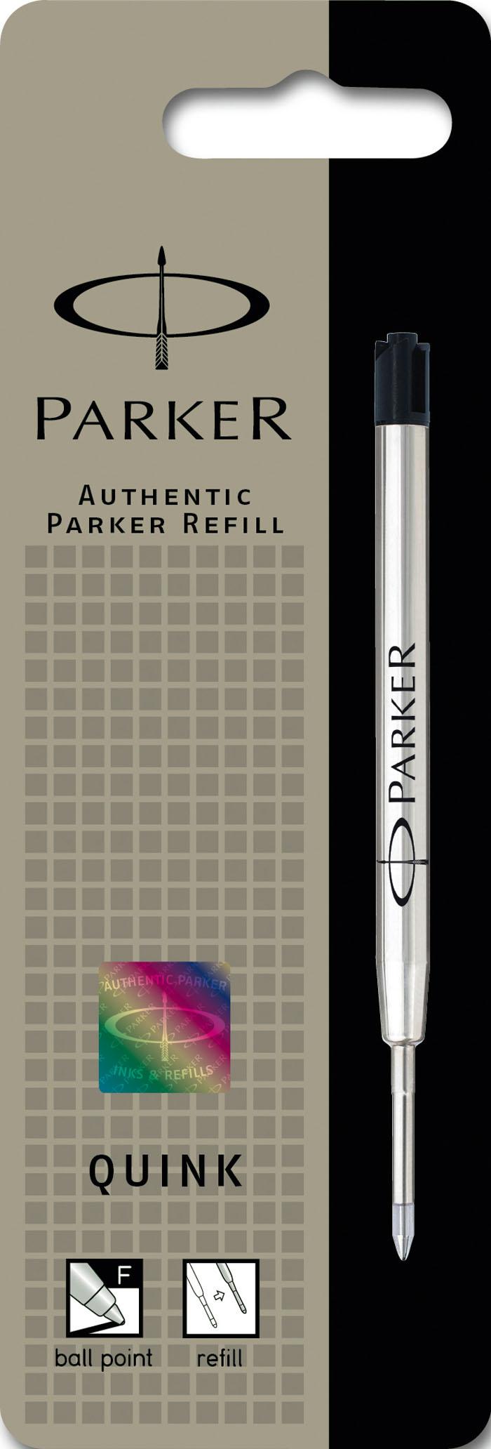 Стержень для шариковых ручек QUINK FLOW. PARKER-S0909400PARKER-S0909400Стержень для шариковой ручки Паркер Квинк Флоу. Для использования в шариковых ручках Паркер, линия письма – тонкая 0,5 мм, чернила черного цвета, Произведено во Франции. Срок годности 4 года.
