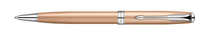 Ручка шариковая Sonnet Pink Gold PVD CT. PARKER-S0947290PARKER-S0947290Ручка шариковая «Паркер Соннет Пинк Голд Си Ти». Инструмент для письма, линия письма – средняя, цвет чернил – черный, в подарочной упаковке. Произведено во Франции.