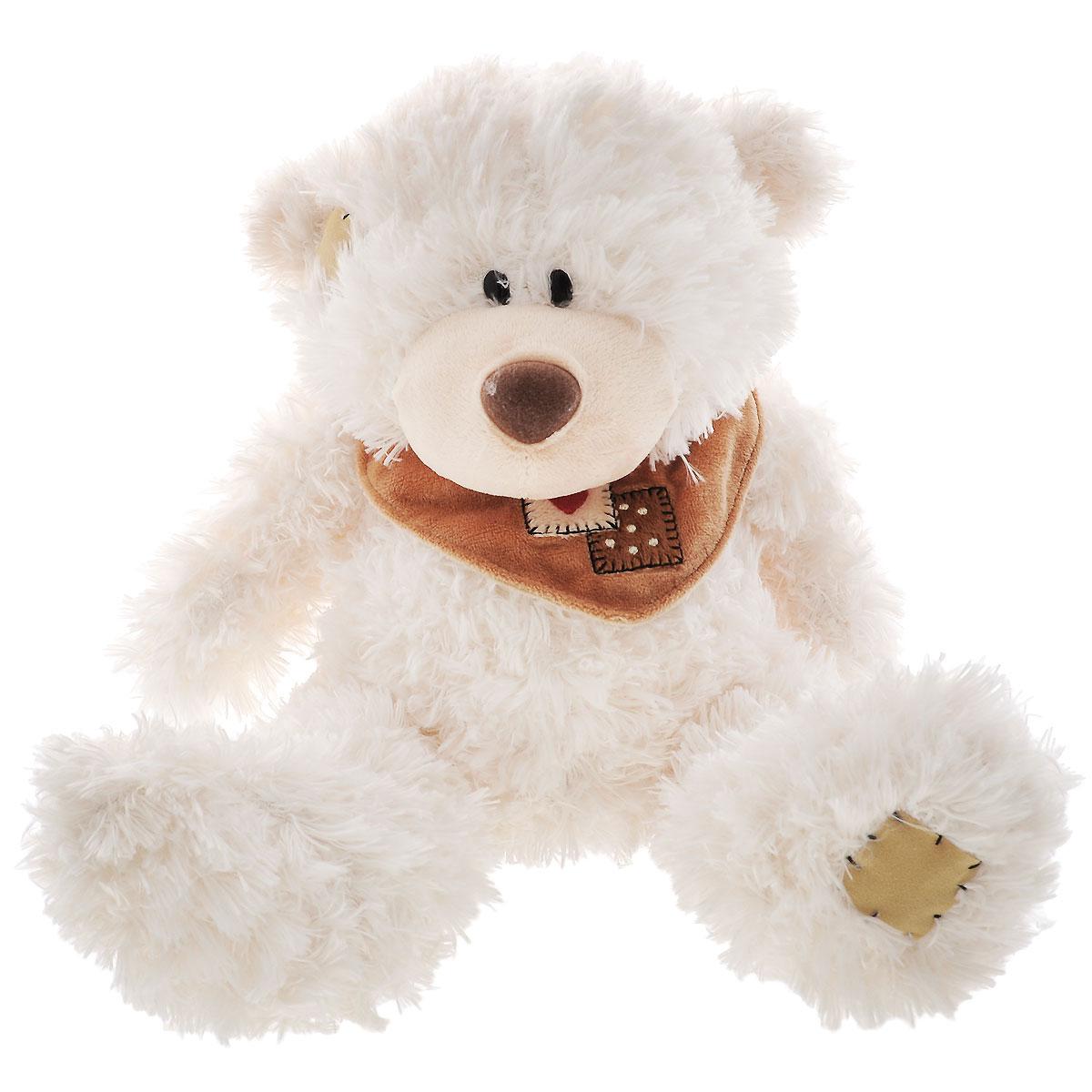 Plush Apple Мягкая игрушка Белый медведь с шарфом, 25 смK76163A,A1Мягкая игрушка Plush Apple Белый медведь с шарфом, выполненная в виде медвежонка, вызовет умиление и улыбку у каждого, кто ее увидит. Изготовлен медвежонок из текстильных материалов, с элементами из пластика. Необычайно мягкая игрушка принесет радость и подарит своему обладателю мгновения нежных объятий и приятных воспоминаний. Мягкая игрушка способствует развитию воображения и тактильной чувствительности у детей.