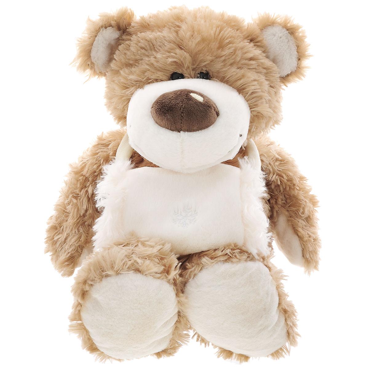 Plush Apple Мягкая игрушка Медведь с муфтой, 42 смK18038AМягкая игрушка Медведь с муфтой станет прекрасным подарком и обязательно понравится ребенку. Игрушка торговой марки Plush Apple изготовлена из сертифицированных и безопасных материалов. Мишка сможет составить компанию и дома, и на прогулке, и даже в постели, когда ребенок ложится спать. У Мишки очень мягкая и приятная на ощупь шерстка. На шее у медведя находится теплая и мягкая муфта. Оригинальный дизайн и великолепное качество исполнения делают игрушку Медведь с муфтой чудесным подарком к любому празднику, а жизнерадостный образ представит такой подарок в самом лучшем свете.