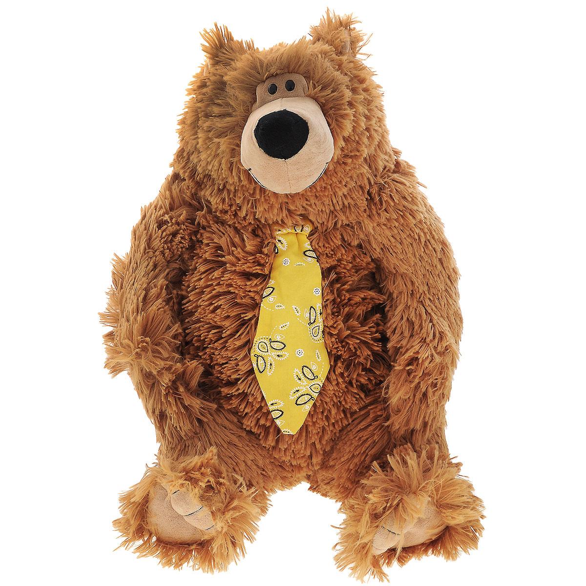 Мягкая игрушка Plush Apple Медведь в галстуке, цвет: коричневый, 47 смK93423A4Яркая мягкая игрушка Plush Apple Медведь в галстуке коричневого цвета привлечет внимание не только ребенка, но и взрослого. Мишка большой, в сидячем положении 47см. Изготовлен из экологически чистого текстиля, наполнитель синтепон. При изготовлении используются новейшие материалы, уникальная технология, авторский дизайн и ручная проработка деталей. Невероятно мягкий и нежный, с ним так приятно играть, ходить на прогулку и засыпать, прижавшись к его бочку. Плюшевые игрушки помогут любому человеку выразить свои чувства и преподнести незабываемый, оригинальный подарок своим близким и любимым.
