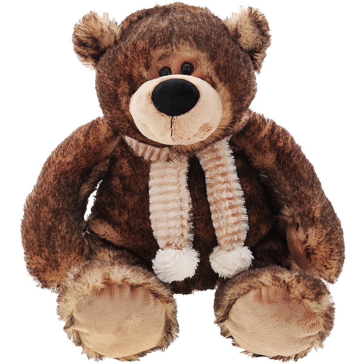 Мягкая игрушка Plush Apple Медведь, цвет: коричневый, 37 см11513,K73004BЯркая мягкая игрушка Plush Apple Медведь с меховым шарфиком на шее, привлечет внимание не только ребенка, но и взрослого. Модель изготовлена из приятных на ощупь и очень мягких безвредных материалов. Мишка большой, в сидячем положении 37 см. Невероятно мягкий и нежный, с ним так приятно играть, ходить на прогулку и засыпать, прижавшись к его бочку. Плюшевые игрушки помогут любому человеку выразить свои чувства и преподнести незабываемый, оригинальный подарок своим близким и любимым.