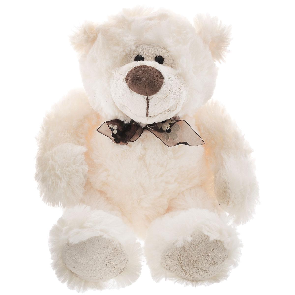 Мягкая игрушка Plush Apple Медведь Богдан, цвет: молочный, 37 смK13038AОчаровательный пушистый мишка Богдан никого не оставит равнодушным. Его добрые глаза и веселая улыбка вызовут умиление и улыбку. Невероятно мягкий и нежный, с ним так приятно играть, ходить на прогулку и засыпать, прижавшись к его бочку. Мишка станет прекрасным подарком любимым и близким.