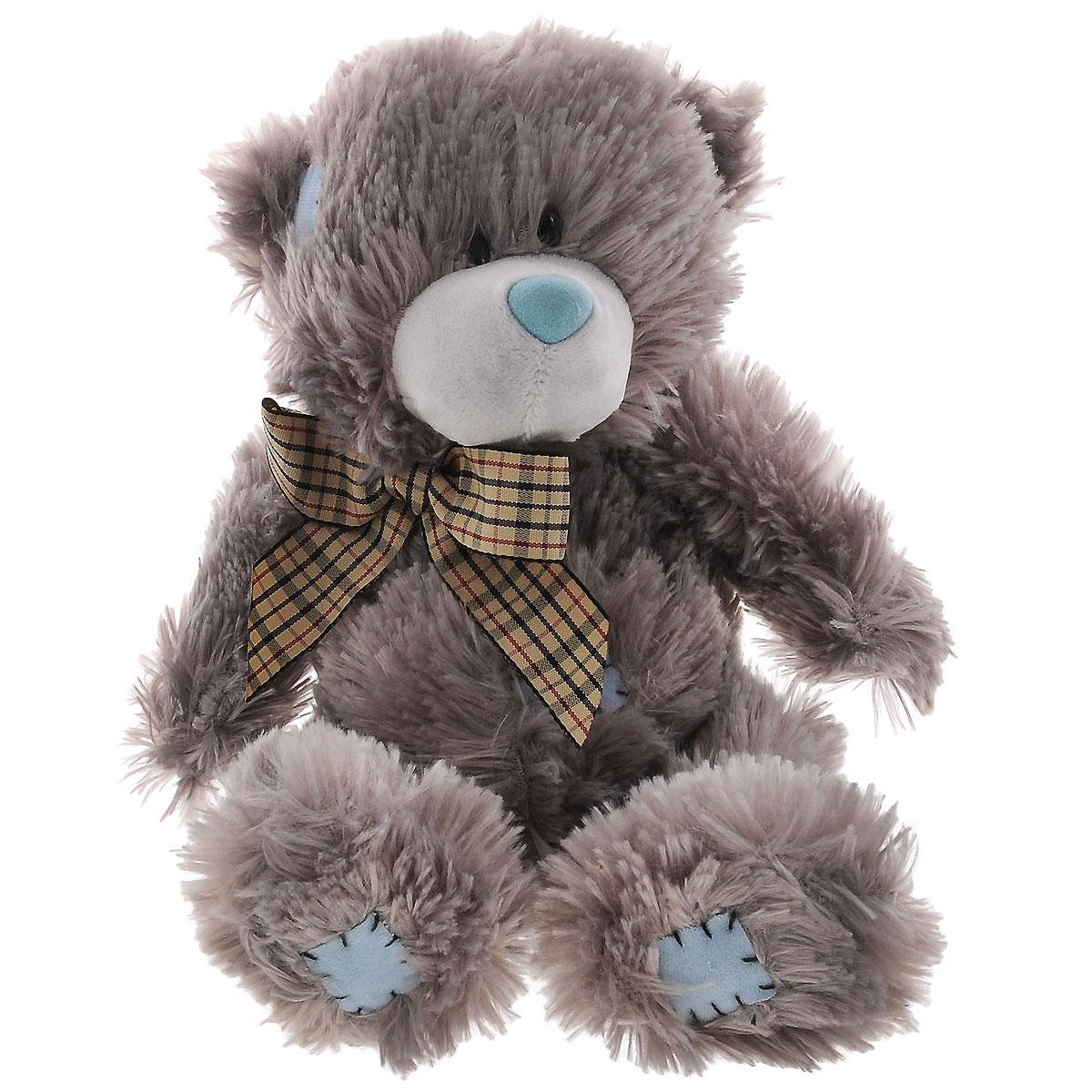 Мягкая игрушка Plush Apple Медведь Заплатка, цвет: серый, голубой, 20 см5A00132R,T,SЯркая мягкая игрушка Plush Apple Медведь Заплатка серого цвета с голубыми заплатками-нашивками, и с бантиком на шее, привлечет внимание любого ребенка. Модель изготовлена из приятных на ощупь и очень мягких материалов, безвредных для малыша. Невероятно мягкий и нежный, с ним так приятно играть, ходить на прогулку и засыпать, прижавшись к его бочку. Мишка станет прекрасным подарком любимым и близким.