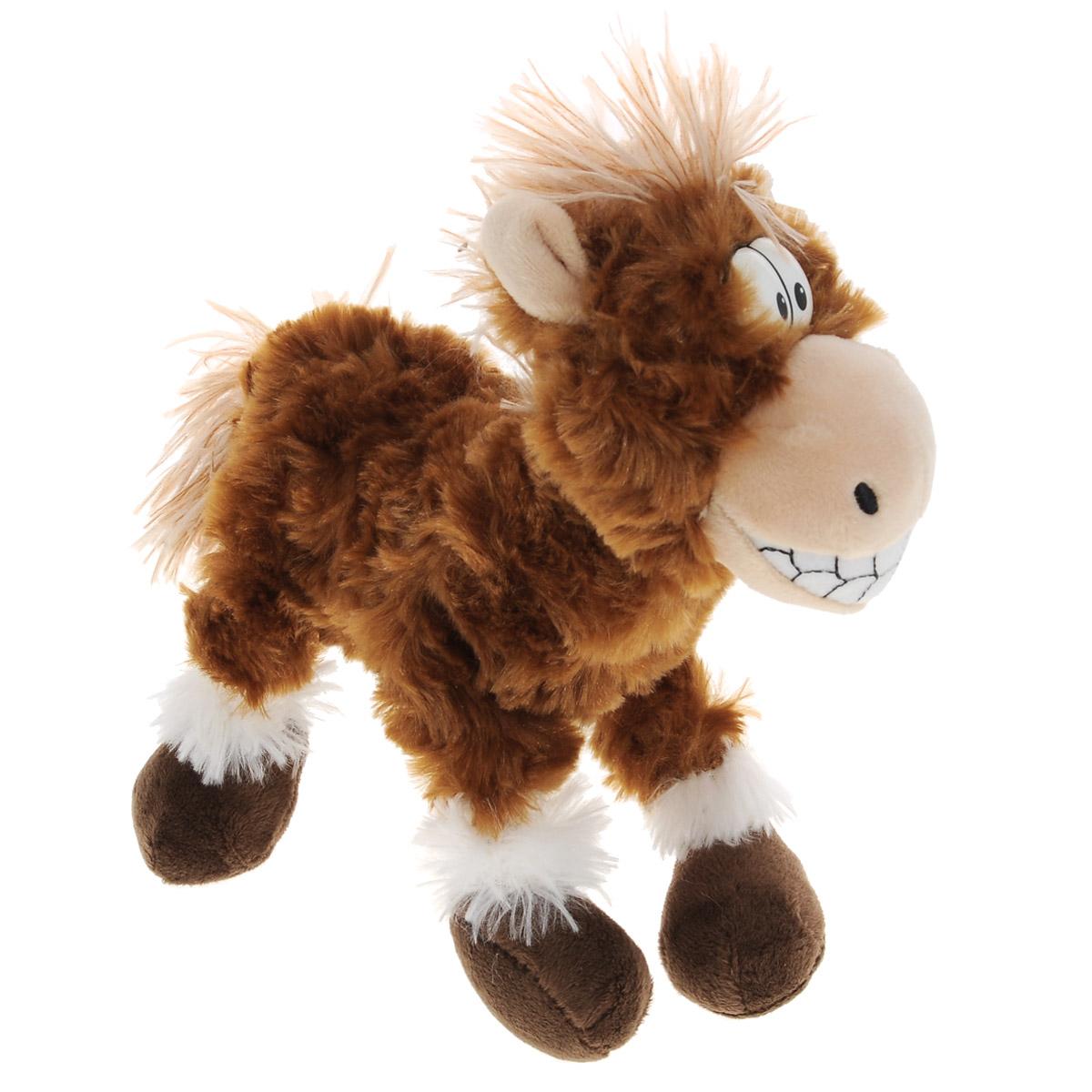 Мягкая игрушка Plush Apple Лошадка весельчак, 22 смK33049BЗабавная и симпатичная мягкая игрушка Plush Apple Лошадка весельчак непременно вызовет улыбку у детей и взрослых. Изделие изготовлено из приятных на ощупь и очень мягких материалов, безвредных для малыша. Игрушка выполнена в виде веселой лошадки с пластиковыми глазками. Небольшие размеры игрушки позволяют брать ее на прогулку и в гости, поэтому малышу больше не придется расставаться со своим новым другом.