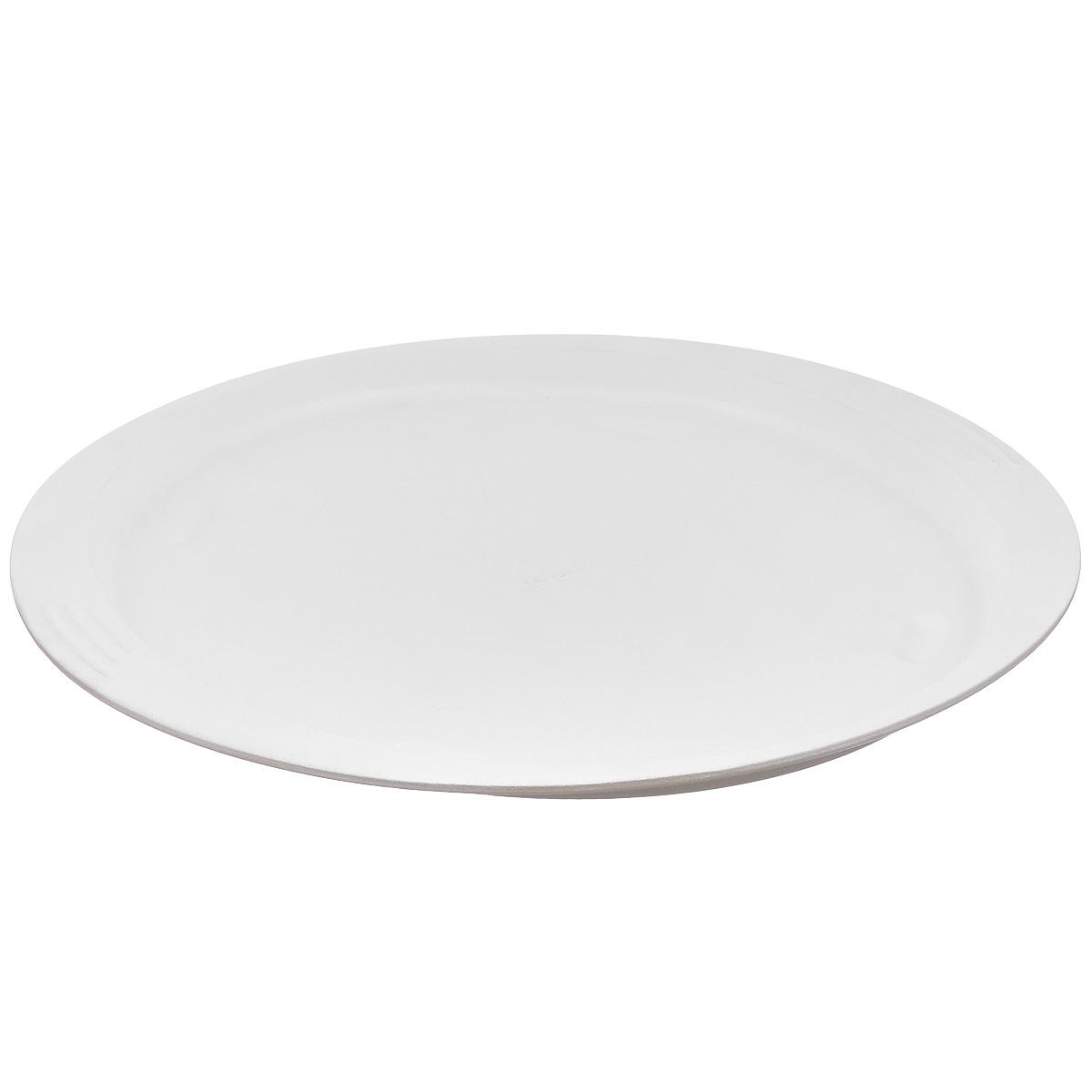 Форма для пиццы Tefal EasyGrip, круглая, с керамичексим покрытием, диаметр 34 см2100083294Круглая форма для пиццы Tefal EasyGrip выполнена из алюминиевого сплава с противопригорающим керамическим покрытием, что обеспечивает форме прочность и долговечность. Форма оснащена пластмассовой петелькой для подвешивания. Равномерное распределение тепла способствует образованию корочки на выпекаемых изделиях. Готовая выпечка без труда извлекается из нее. Форма не содержит PFOA, свинца и кадмия. Изделие легко мыть. Чтобы избежать повреждений антипригарного покрытия, не используйте металлические или острые кухонные принадлежности. Внешний размер формы (с учетом ручек): 44 см х 36 см х 2,5 см. Внутренний размер формы: 34 см х 34 см.