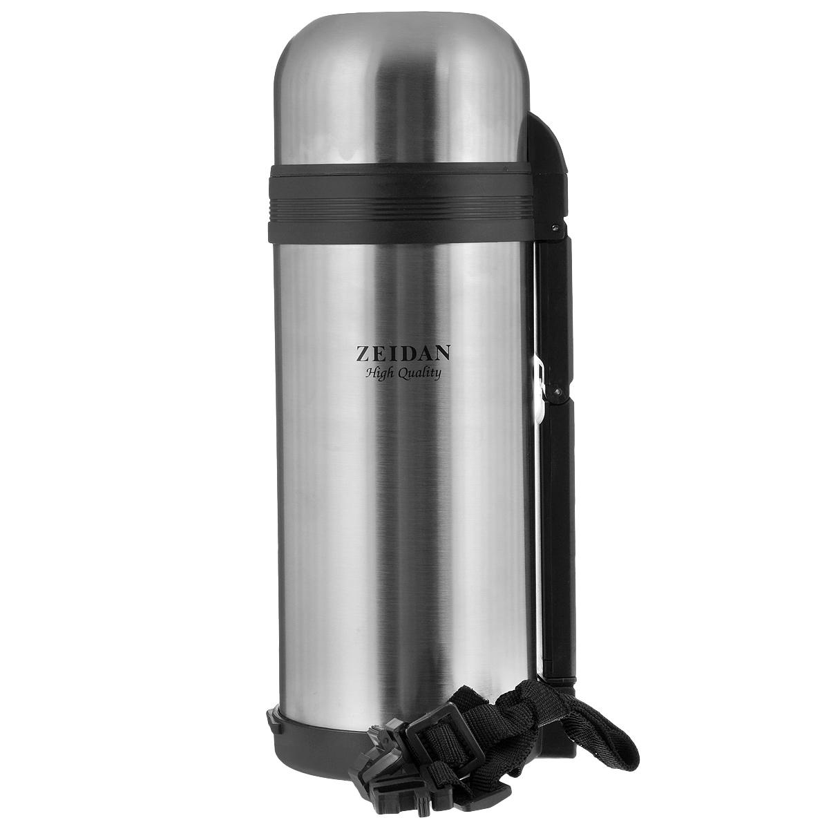 Термос Zeidan Hunter, 1,2 лZ-9014 HunterТермос с универсальным горлом Zeidan Hunter, изготовленный из высококачественной нержавеющей стали, является простым в использовании, экономичным и многофункциональным. Термос с вакуумной изоляцией предназначен для горячих и холодных напитков (чая, кофе). Изделие укомплектовано пробкой с кнопкой, дополнительной пластиковой чашей и удобной складной ручкой для переноски. Пробка удобна в использовании и позволяет, не отвинчивая ее, наливать напитки после простого нажатия кнопки. Изделие также оснащено крышкой-чашкой. Легкий и прочный термос Zeidan Hunter сохранит температуру ваших напитков надолго. Высота (с учетом крышки): 27 см. Диаметр горлышка: 7,5 см. Диаметр основания: 10,5 см.
