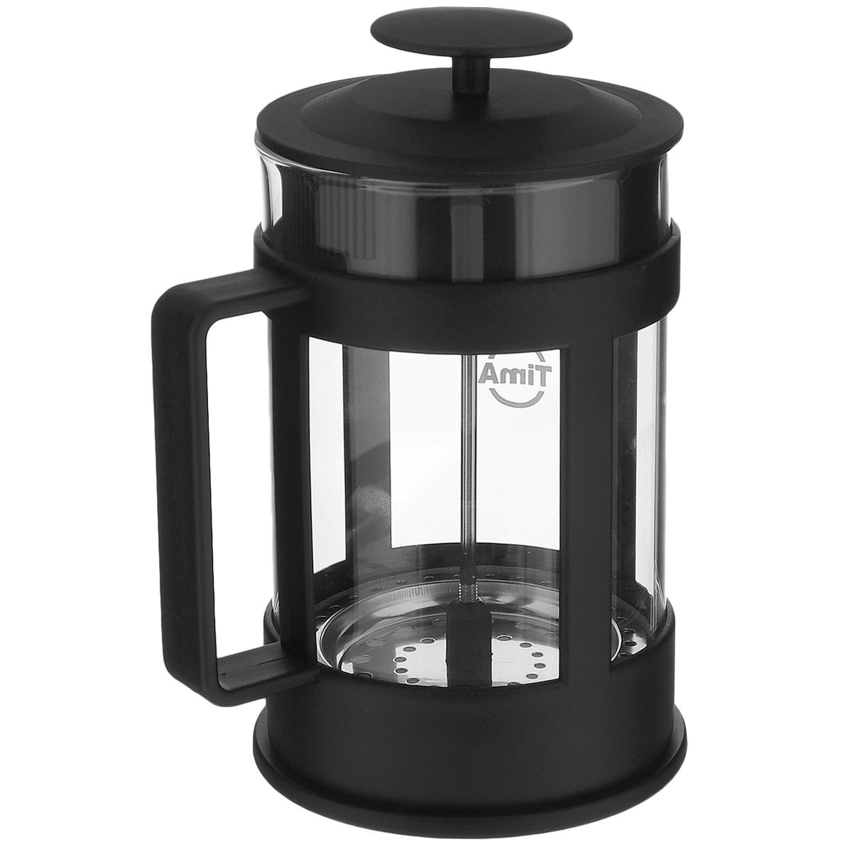 Френч-пресс TimA Марципан, 350 млFM-350Френч-пресс TimA Марципан, изготовленный из жаропрочного боросиликатного стекла и высококачественного пластика, это совершенный чайник для приготовления кофе или чая методом настаивания и отжима. Изделие с плотной крышкой и удобной ручкой имеет специальный поршень с фильтром из нержавеющей стали для отделения чайных листьев от воды. После заваривания чая фильтр не надо вынимать. Заваривание чая - это приятное и легкое занятие. Френч-пресс TimA Марципан займет достойное место на вашей кухне. Можно мыть в посудомоечной машине. Объем: 350 мл. Диаметр (по верхнему краю): 7 см. Высота (без учета крышки): 13,5 см.