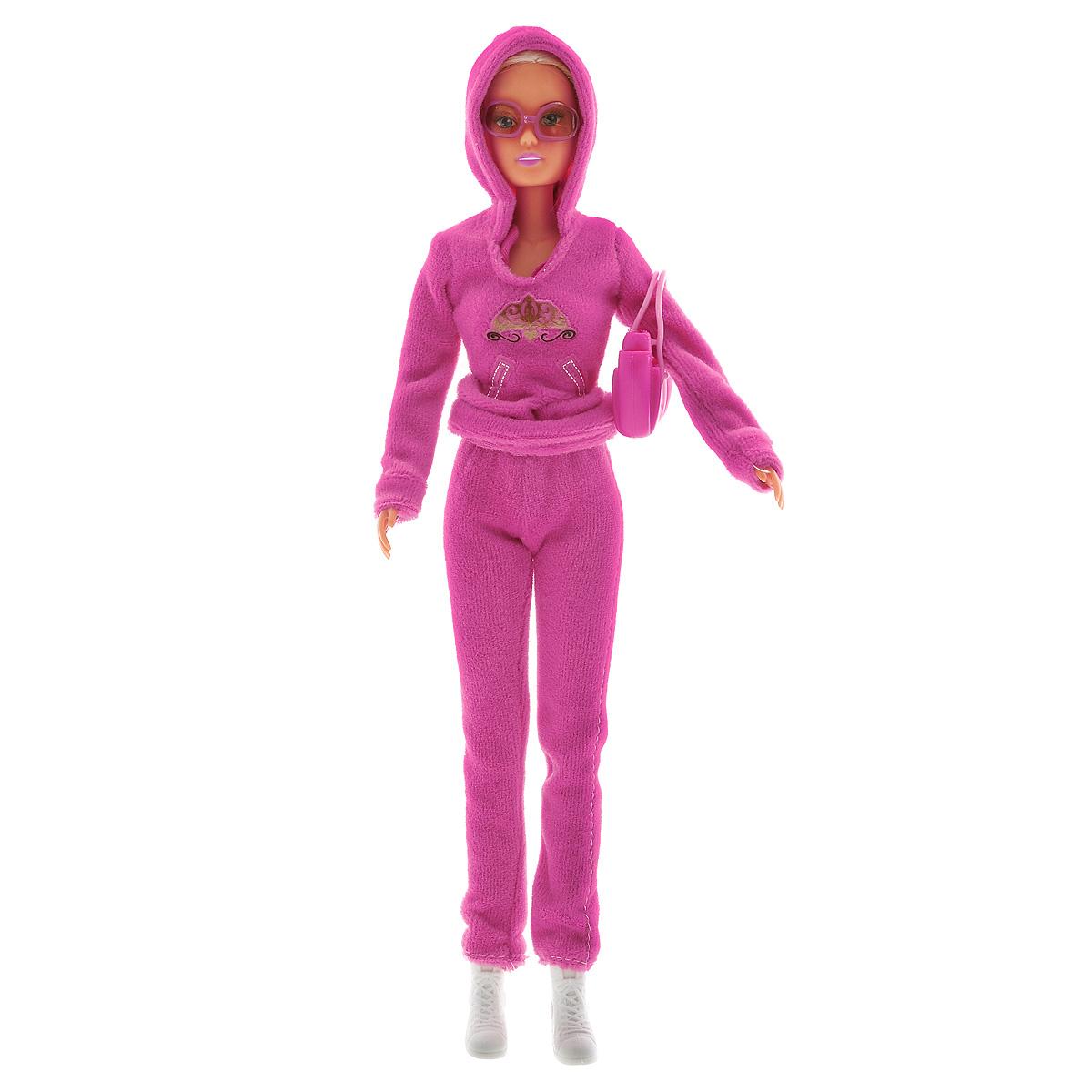 Simba Кукла Штеффи в Беверли-Хиллз5730450_цвет костюма розовыйКукла Simba Steffi Love. Beverly Hills надолго займет внимание вашей малышки и подарит ей множество счастливых мгновений. Кукла изготовлена из пластика, ее голова, ручки и ножки подвижны, что позволяет придавать ей разнообразные позы. В комплект входит чашка кофе для куклы. Куколка одета в удобный розовый спортивный костюм. Стильный образ дополняют солнцезащитные очки и небольшая сумка. Чудесные длинные волосы куклы так весело расчесывать и создавать из них всевозможные прически, косички и хвостики. Благодаря играм с куклой, ваша малышка сможет развить фантазию и любознательность, овладеть навыками общения и научиться ответственности, а дополнительные аксессуары сделают игру еще увлекательнее. Порадуйте свою принцессу таким прекрасным подарком!