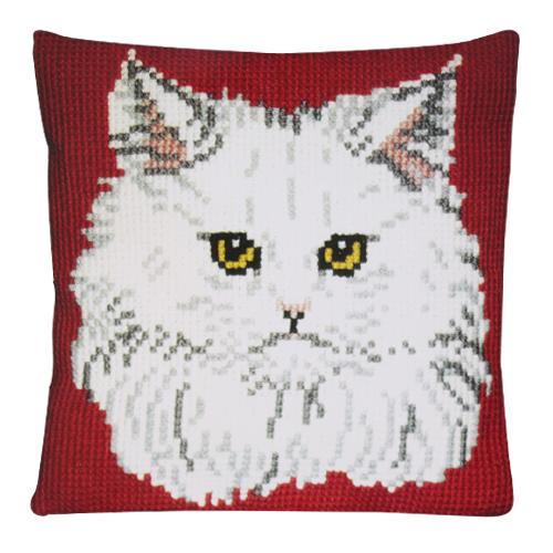 Набор для вышивания крестом Pako Подушка. Белая кошка, 40 см х 40 см003.100Набор для вышивания крестом Pako Подушка. Белая кошка поможет вам создать свой личный шедевр - красивую картину, вышитую нитками мулине в технике счетный крест. Работа, выполненная своими руками, станет отличным подарком для друзей и близких! Набор содержит: - канва-страмин: 100% хлопок, с нанесенным цветным рисунком, - пряжа: 100% акрил, - игла, - инструкция на русском языке. Размер канвы: 48 см х 44 см.