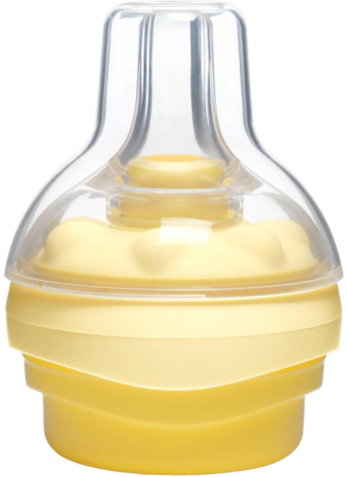 Смартсоска Calma008.0145С Calma малыш дышит, сосет и отдыхает точно также, как у груди – разница неуловима. Calma поможет вам продлить чувство близости, которое существует между вами и ребенком в период кормления грудью. Самый оптимальный размер. Ведь молочные железы не меняют размера на протяжении всего периода лактации. Скорость подачи жидкости, форма и длина Calma рассчитаны таким образом, чтобы соответствовать потребностям малыша по мере того, как он растет. Calma всегда будет отвечать потребностям вашего ребенка в течение всего периода лактации. Смартсоска Calma позволит ребенку сохранять единую модель поведения при кормлении, облегчая возврат к груди. Сматрсоска поставляется в одном размере, который подходит для кормления ребенка любого возраста.