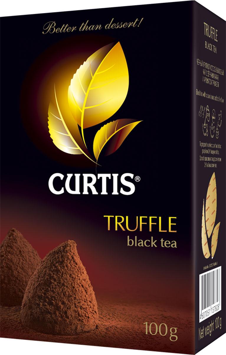 Curtis Truffle Tea черный листовой чай, 100 г512707Соблазнительный вкус нежного шоколадного трюфеля с тонкой сливочной нотой придает особую яркость великолепному черному чаю Curtis Truffle Tea. Роскошно, словно вечер в Ницце.