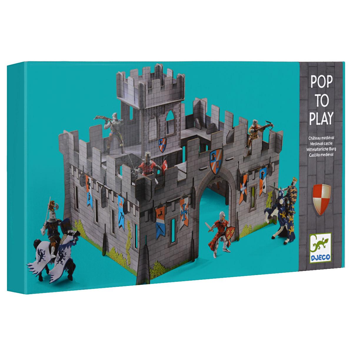 Djeco Объемный конструктор Средневековый замок, 31 элемент07703Объемный конструктор Djeco Средневековый замок порадует вашего малыша. Он включает 31 элемент из очень крепкого картона, из которых собирается великолепный объемный замок с башней. Схематичная инструкция позволит это сделать правильно и быстро. Такой замок станет красивым фоном для игр с рыцарями, солдатиками и прочими любимыми игрушками вашего мальчика.