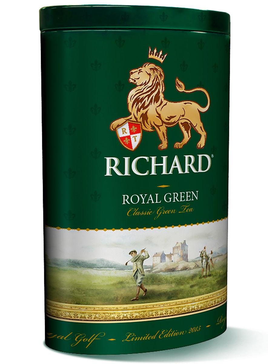 Richard Royal Green зеленый листовой чай, 80 г610151Richard Royal Green - зеленый крупнолистовой китайский чай. Напиток имеет мягкий сбалансированный вкус, а также восстанавливает внутреннюю гармонию и дарит бодрость.