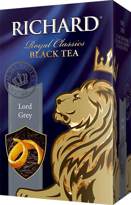 Richard Lord Grey черный листовой чай, 90 г610402Richard Lord Grey - листовой черный цейлонский чай с ароматом бергамота и лимона, который подарит вам классический вкус и аромат каждое утро.