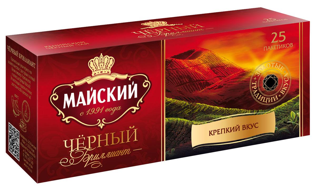 Майский Черный Бриллиант черный чай в пакетиках, 25 шт