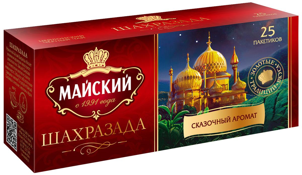 Майский Шахразада черный чай в пакетиках, 25 шт